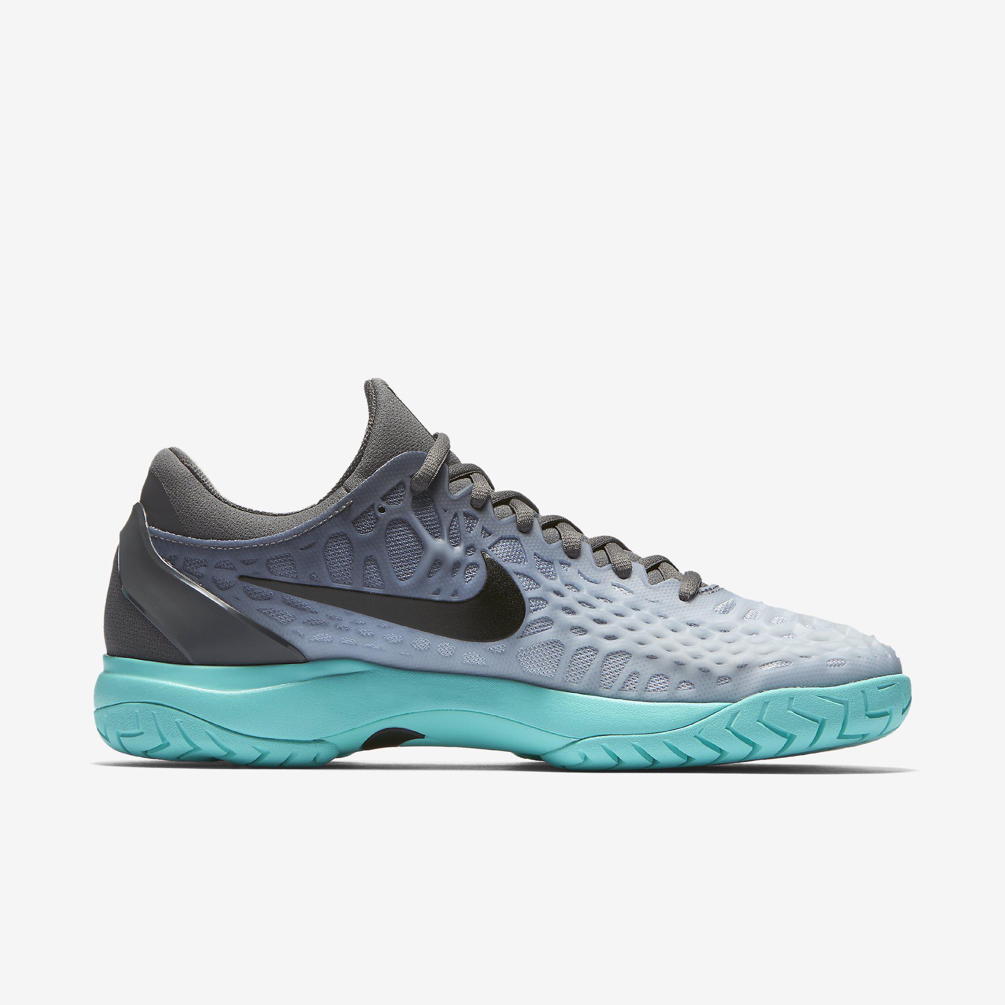2d0def249b5 Nike Mens Zoom Cage 3 Tennis Shoes - Wolf Grey Aurora