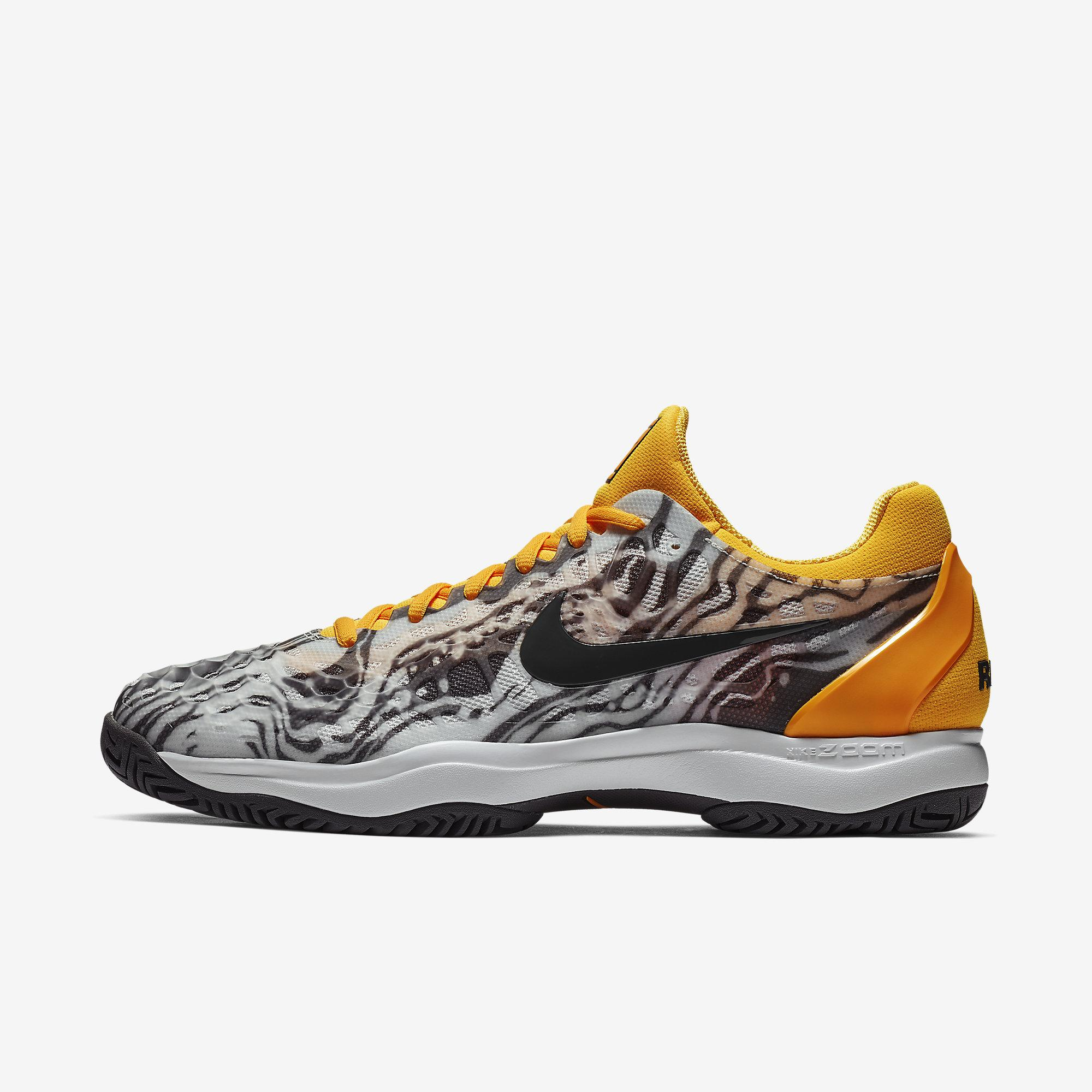 0571739dba5d Nike Mens Zoom Cage 3 Rafa Tennis Shoes - Pure Platinum Laser Orange -  Tennisnuts.com