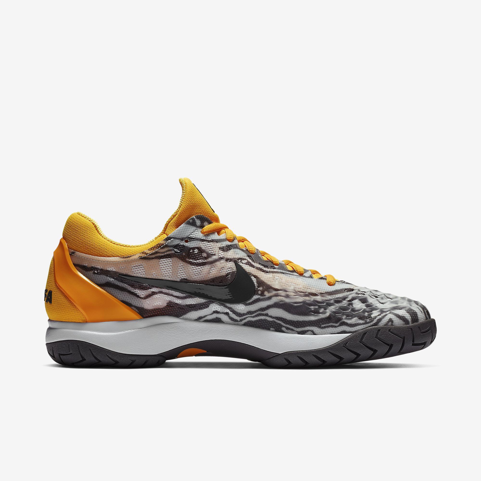 a263652fbb96 Nike Mens Zoom Cage 3 Rafa Tennis Shoes - Pure Platinum Laser Orange ...