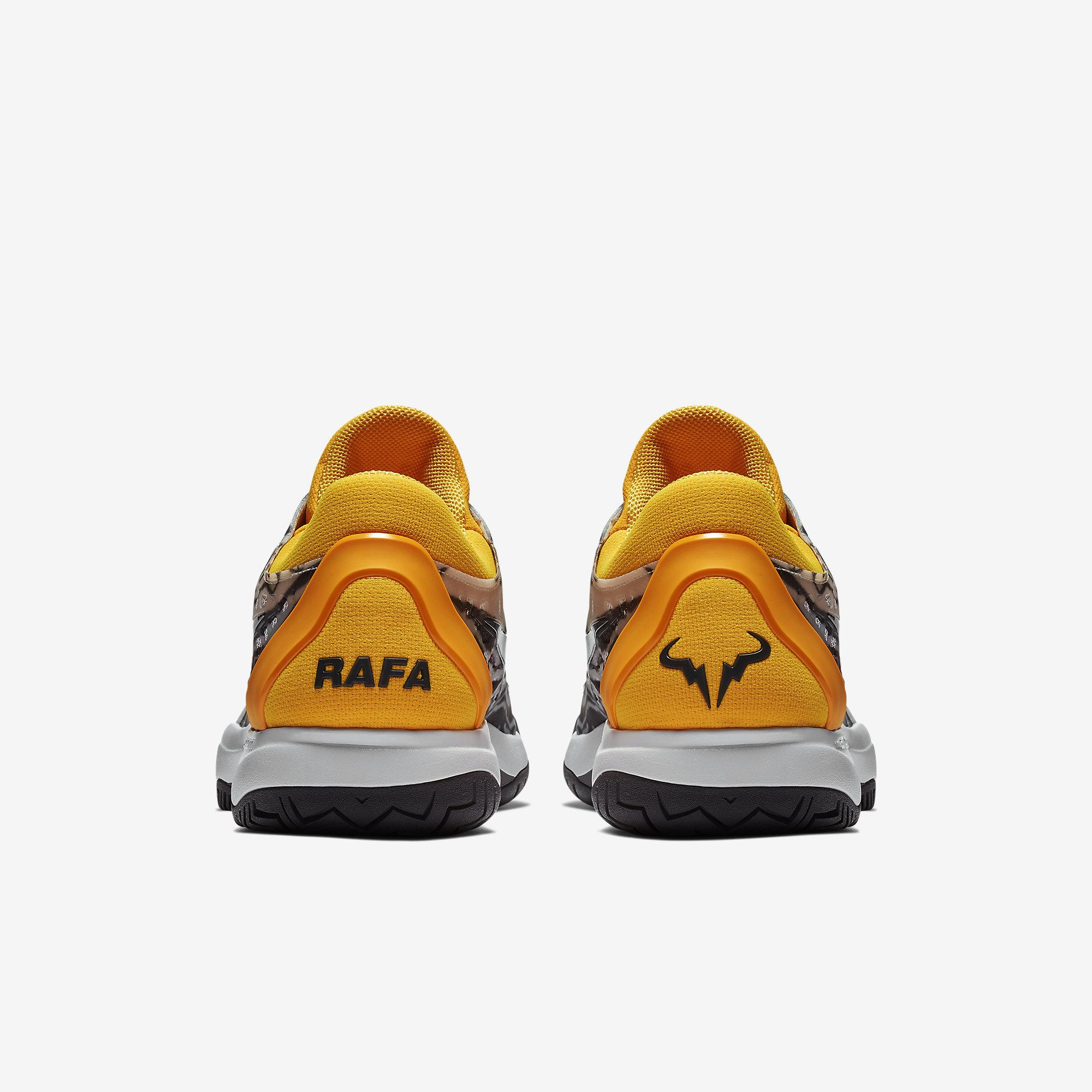 newest b971d 732c1 Nike Mens Zoom Cage 3 Rafa Tennis Shoes - Pure Platinum Laser Orange