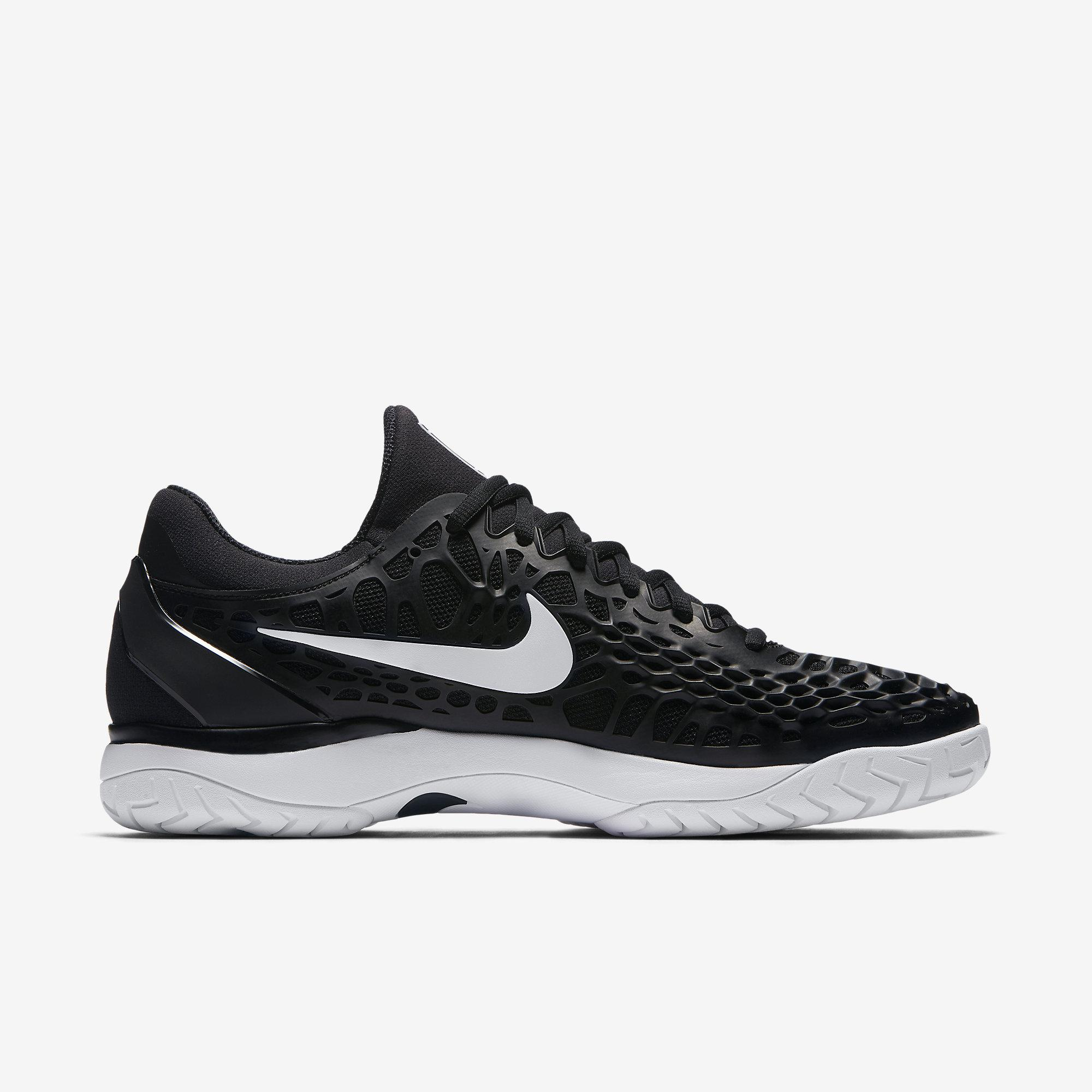 Nike Mens Zoom Cage 3 Tennis Shoes - Black/White ...