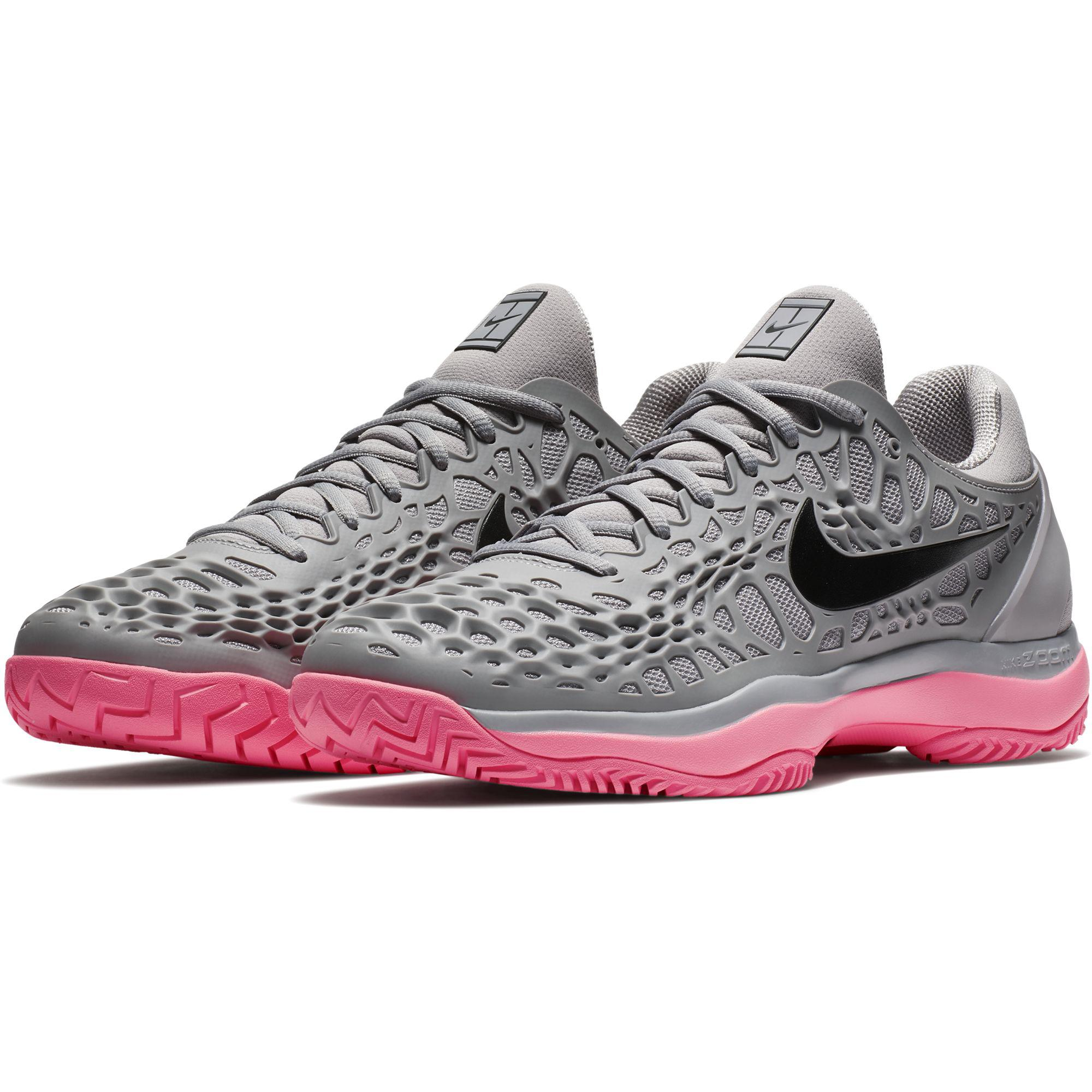 huge selection of 991a3 181b6 Nike Mens Air Zoom Cage 3 Rafa Tennis Shoes - Grey Sunset Pulse