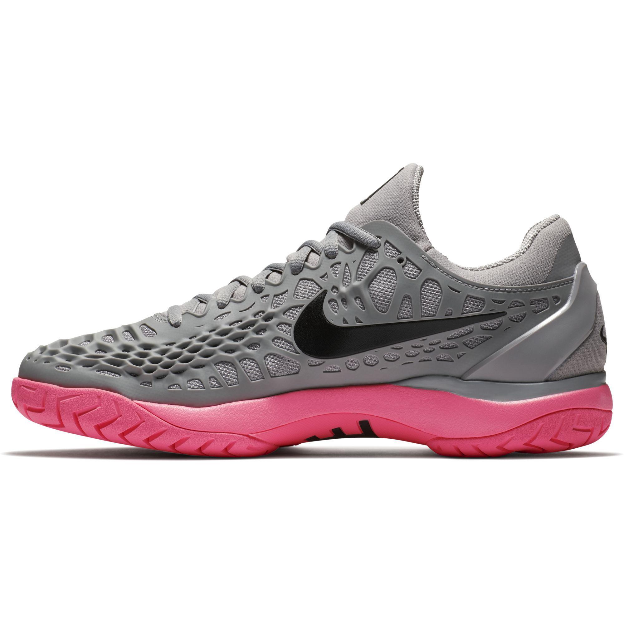 7e13f15aad38 Nike Mens Air Zoom Cage 3 Rafa Tennis Shoes - Grey Sunset Pulse ...