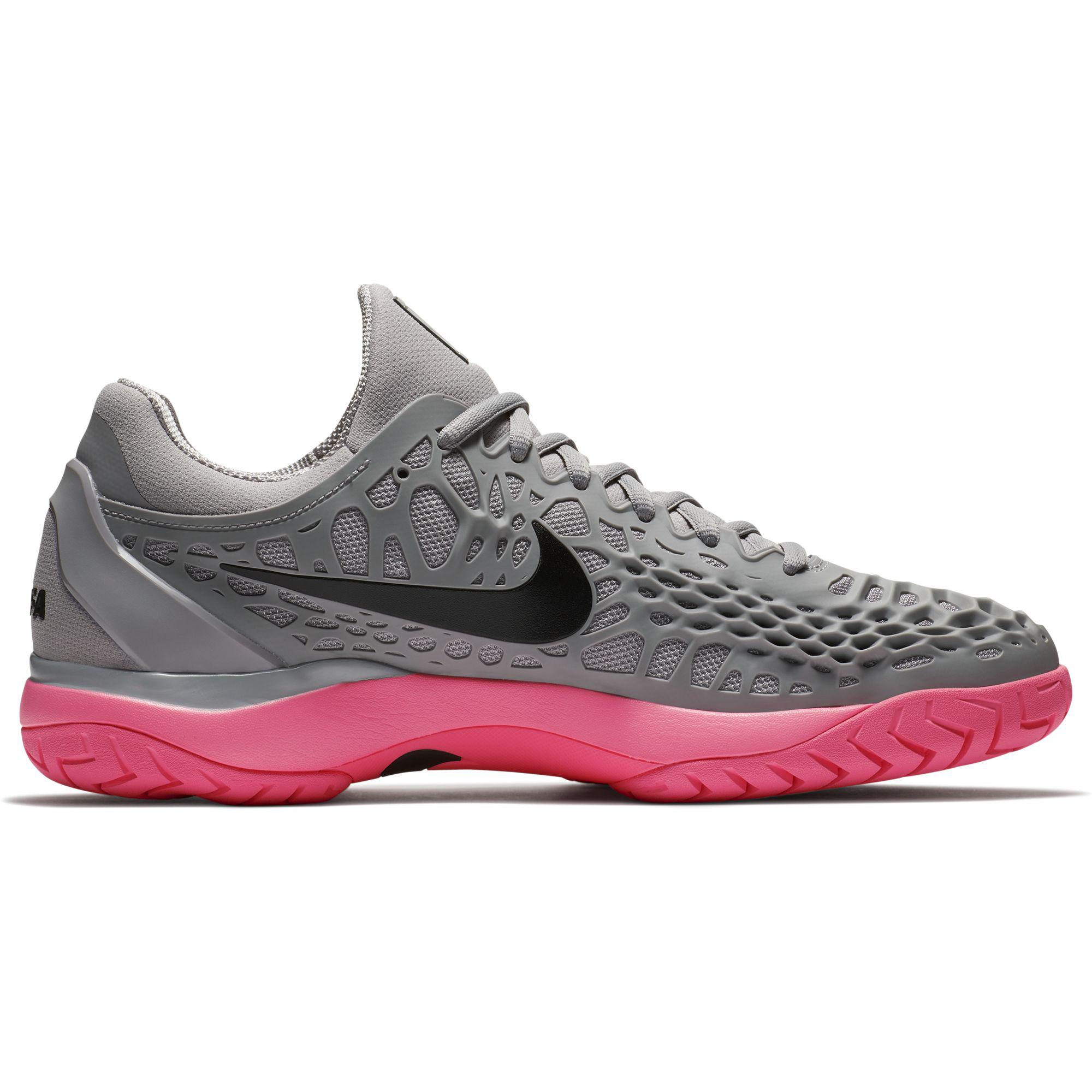 fca4eba291c48 Nike Mens Air Zoom Cage 3 Rafa Tennis Shoes - Grey Sunset Pulse -  Tennisnuts.com