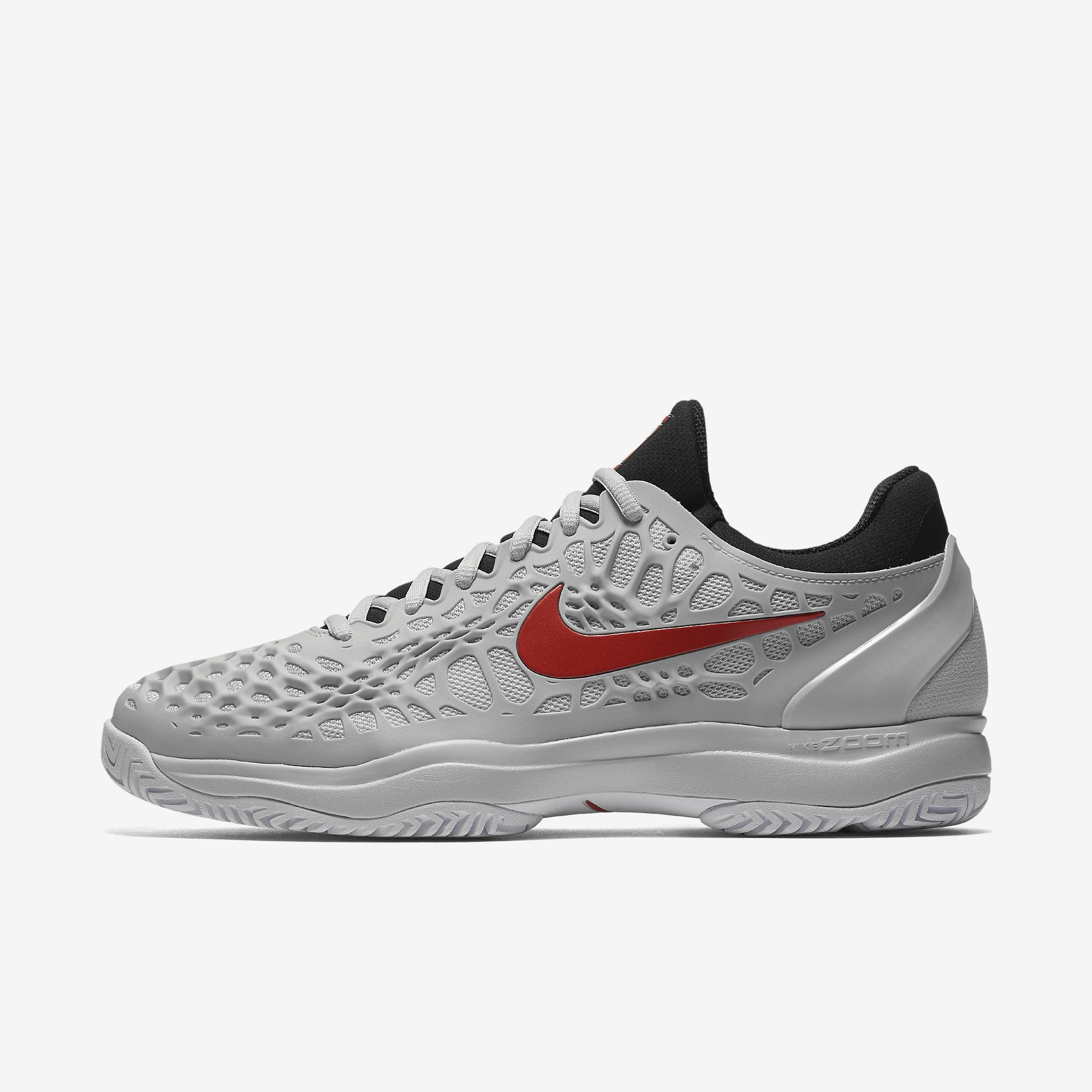 7efaed8e8afa Nike Mens Zoom Cage 3 Tennis Shoes - Pure Platinum Black - Tennisnuts.com