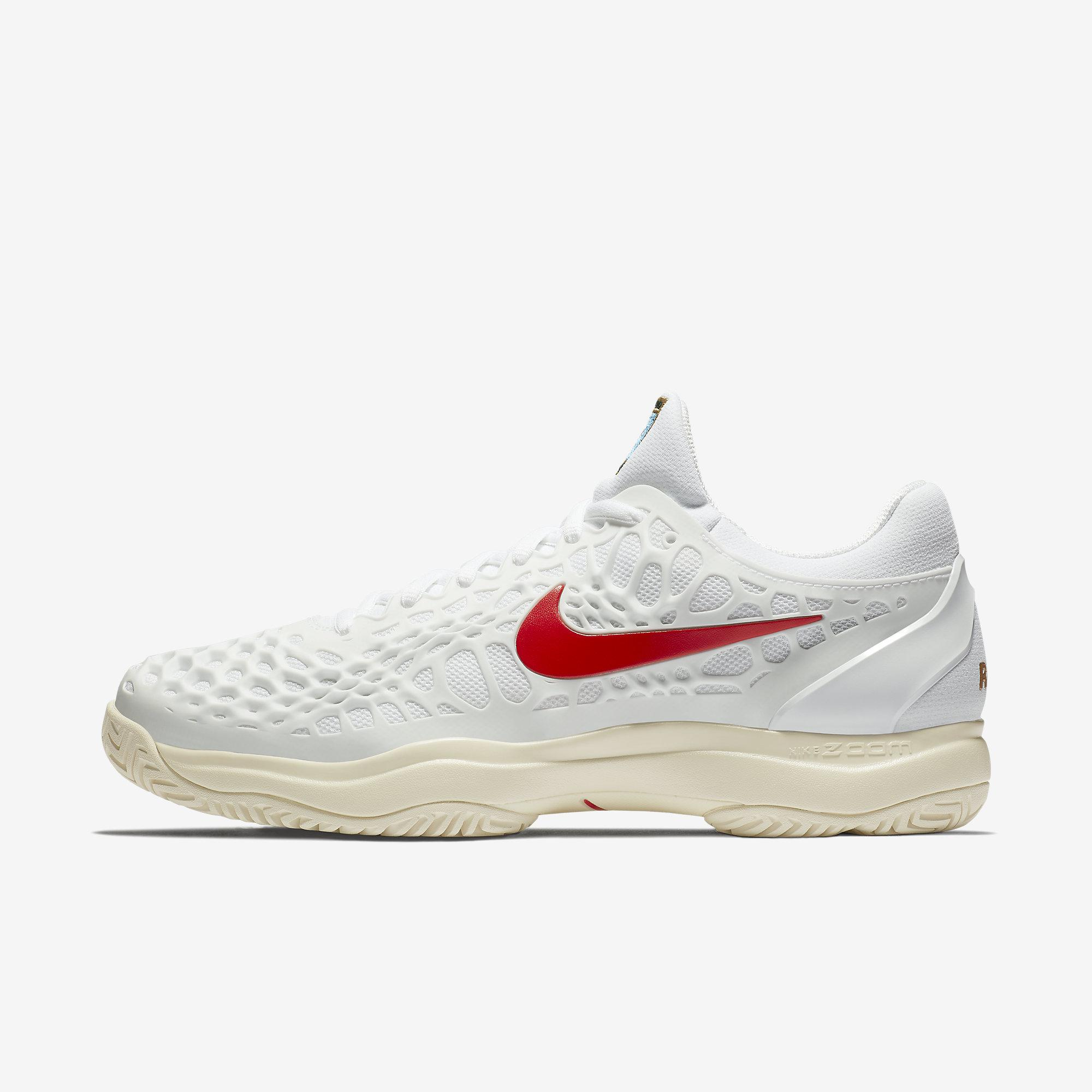 profesor grupo Diplomático  Nike Mens Zoom Cage 3 Rafa Tennis Shoes - White/Light Cream/Red -  Tennisnuts.com