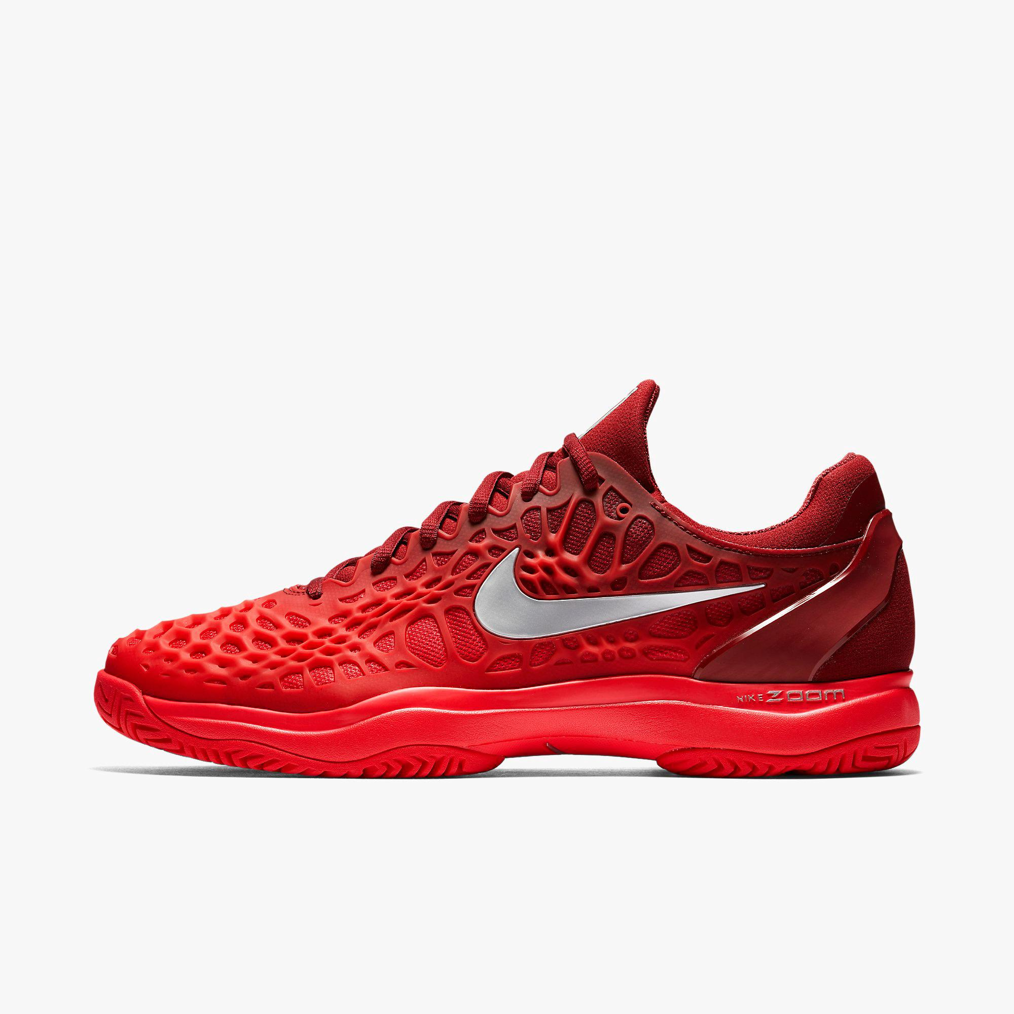 3b5fe62824a34 Nike Mens Zoom Cage 3 Tennis Shoes - Team Red Siren Red - Tennisnuts.com