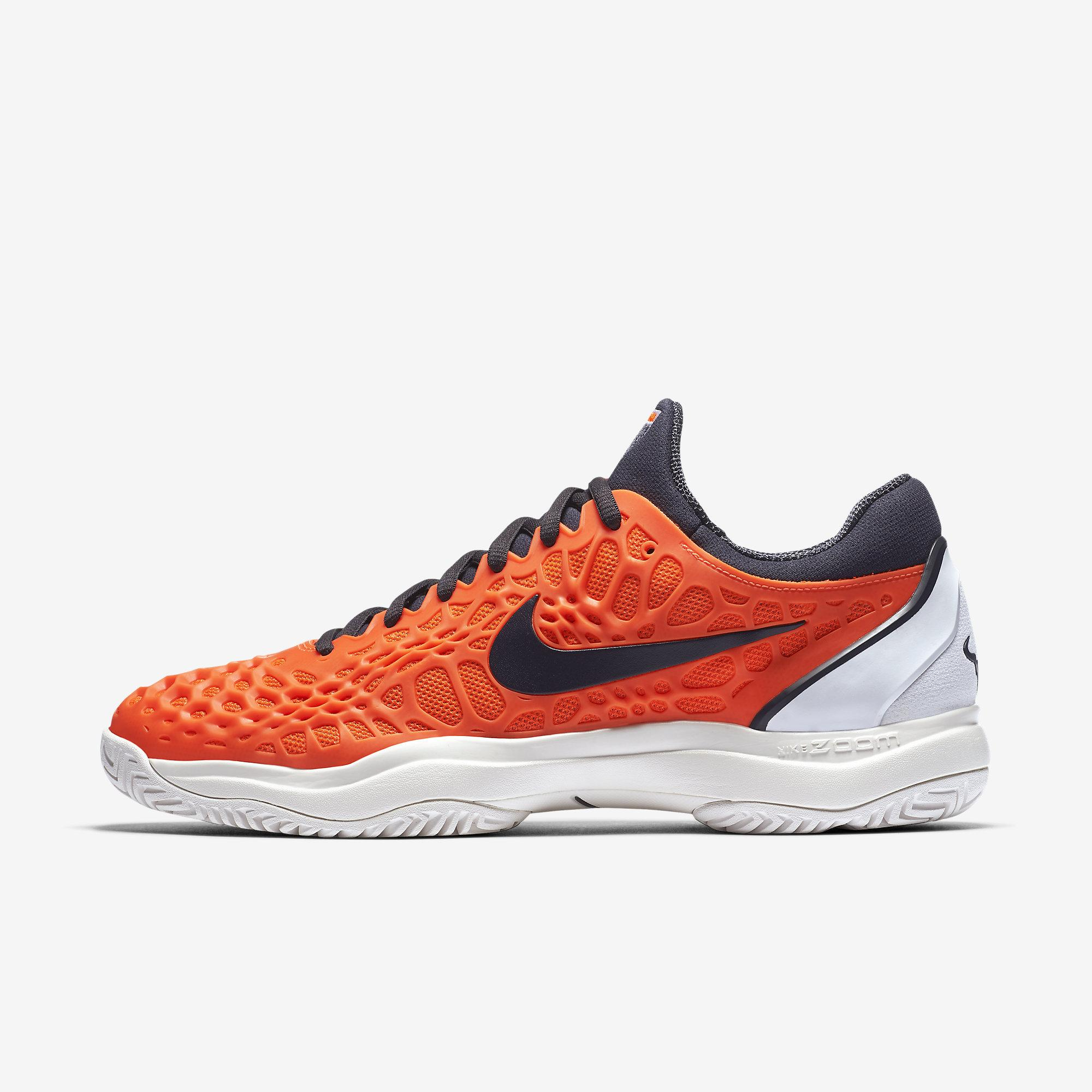 cd2e40da65e0 Nike Mens Zoom Cage 3 Rafa Tennis Shoes - Hyper Crimson White -  Tennisnuts.com