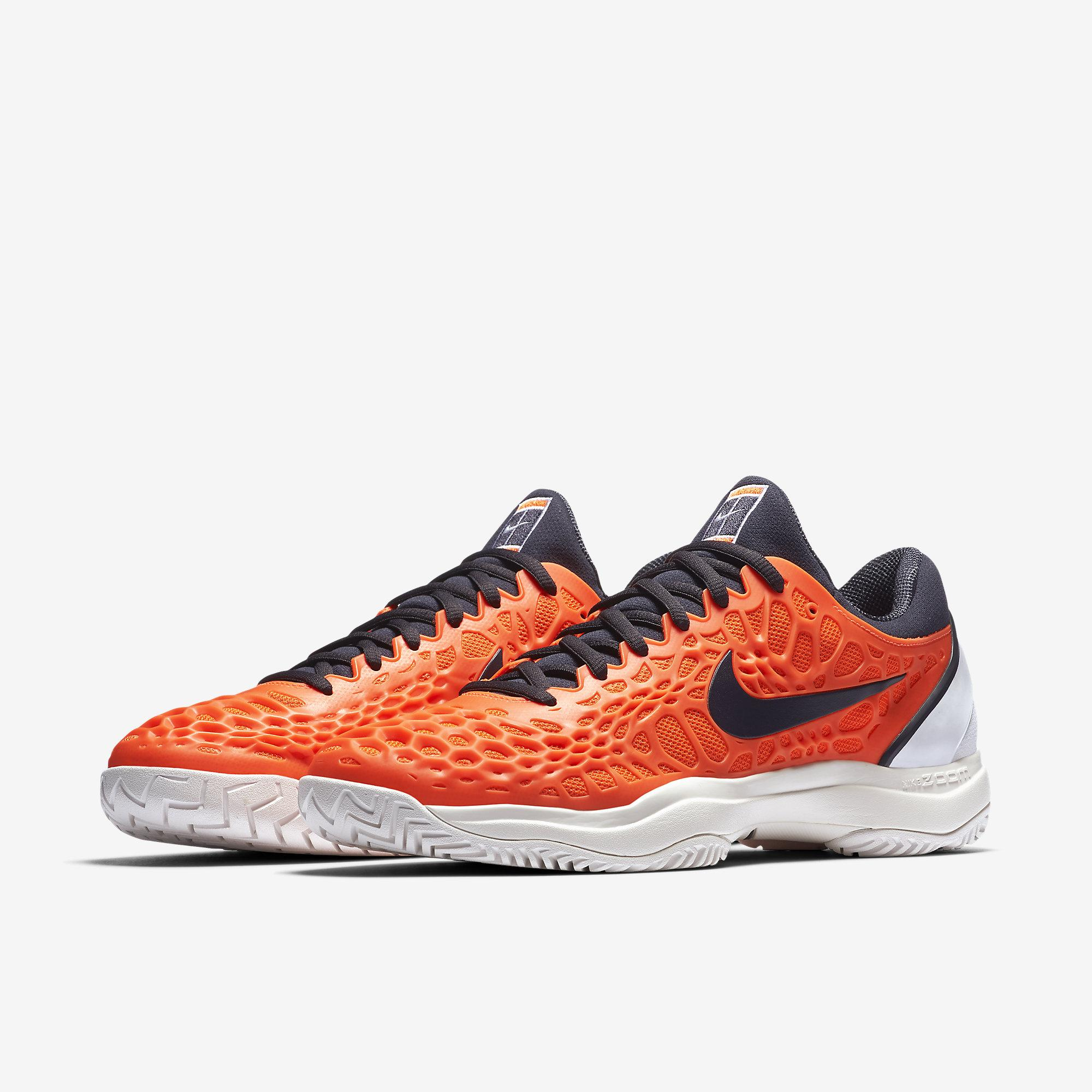 78da162e70a6a Nike Mens Zoom Cage 3 Rafa Tennis Shoes - Hyper Crimson White ...