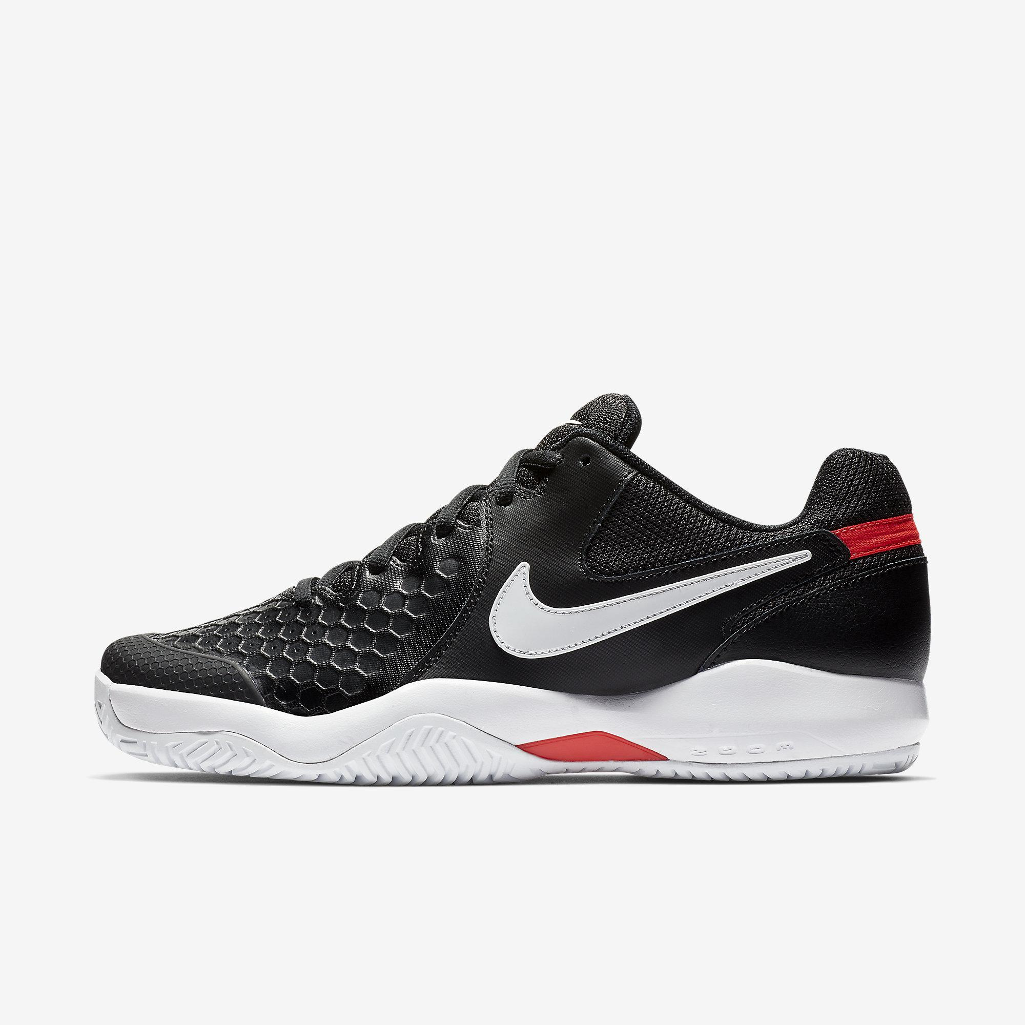 Nike Mens Air Zoom Resistance Tennis Shoes Black
