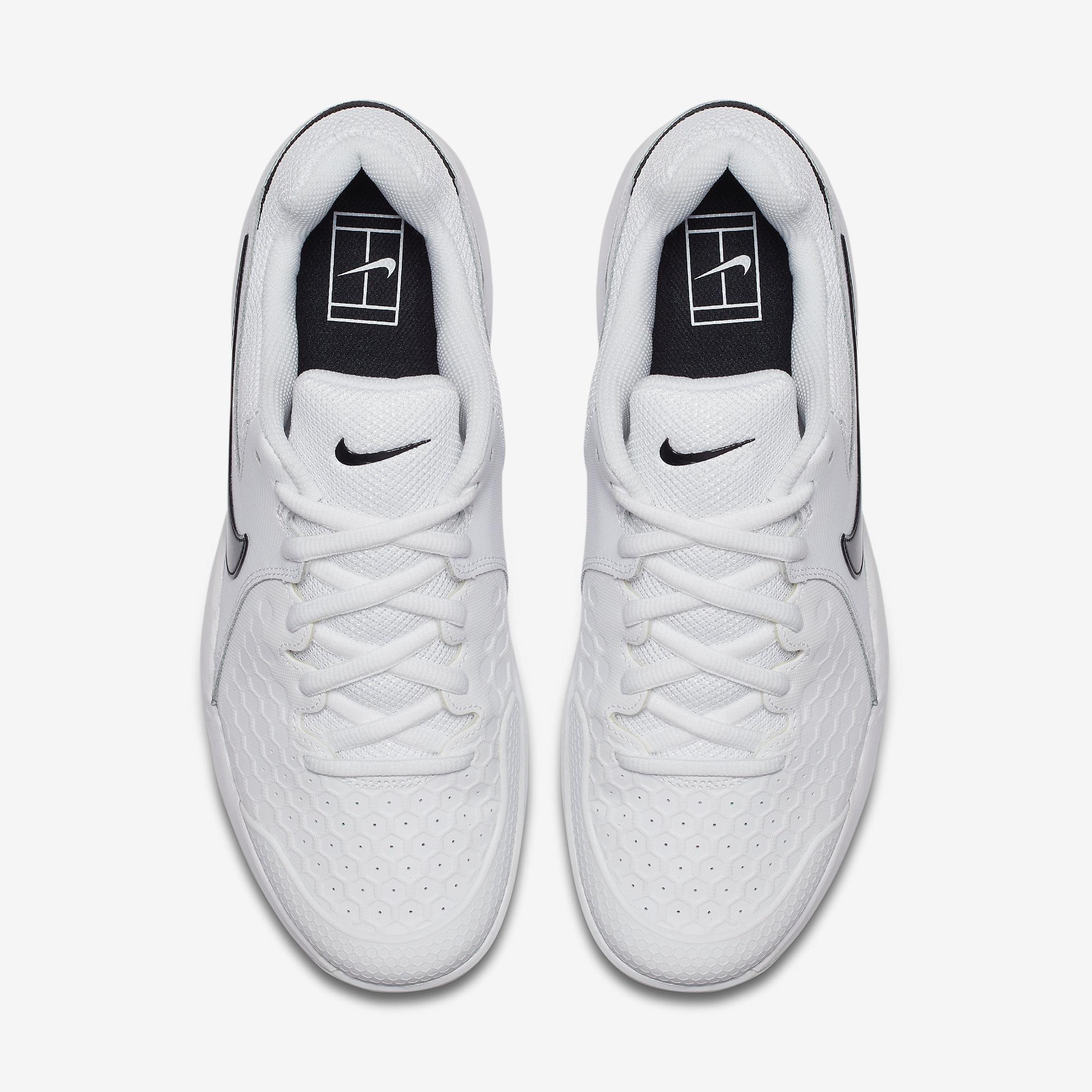 21e42d7bd4 Nike Mens Air Zoom Resistance Tennis Shoes - White/Black ...