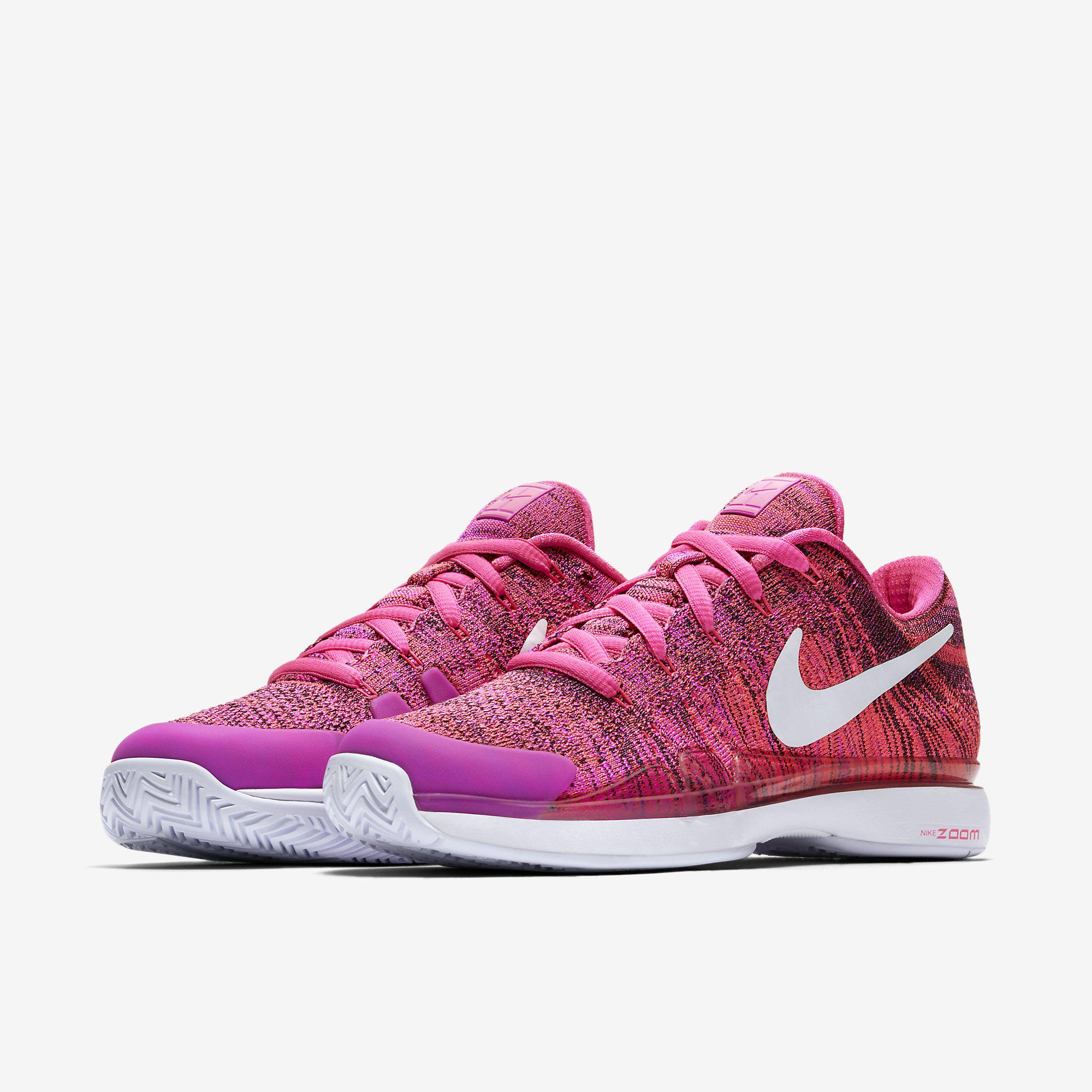 b0442cd150c2 Nike Womens Zoom Vapor 9.5 Flyknit HC QS Tennis Shoes - Pink ...