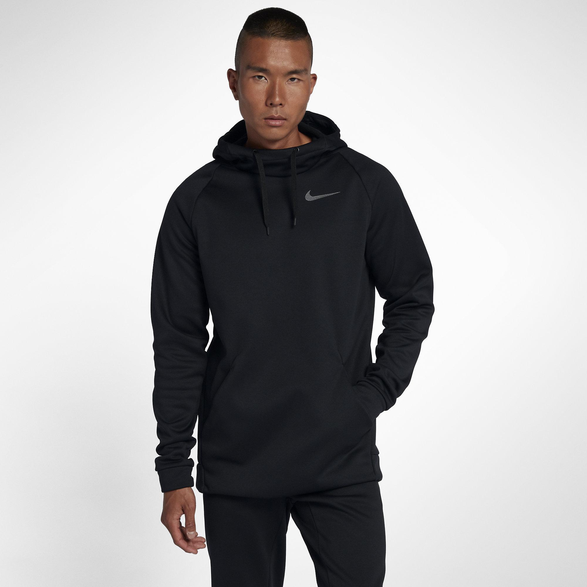 e6e240ca303e Nike Mens Dry Training Hoodie - Black Dark Grey - Tennisnuts.com