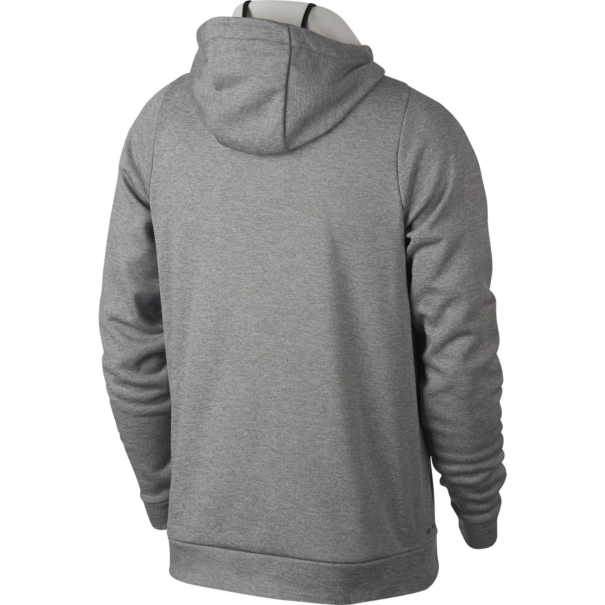 Nike Mens Dry Training Hoodie - Dark Grey Heather Black - Tennisnuts.com 0fae4e0c4