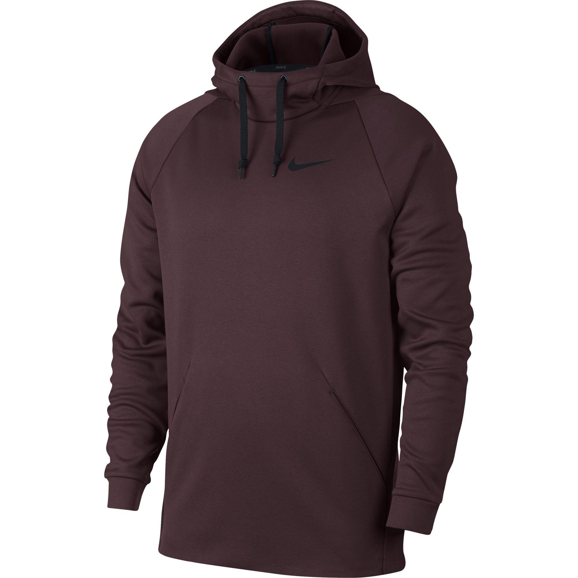 Nike Mens Dry Training Hoodie - Burgundy Crush Black - Tennisnuts.com 1505d3c1b