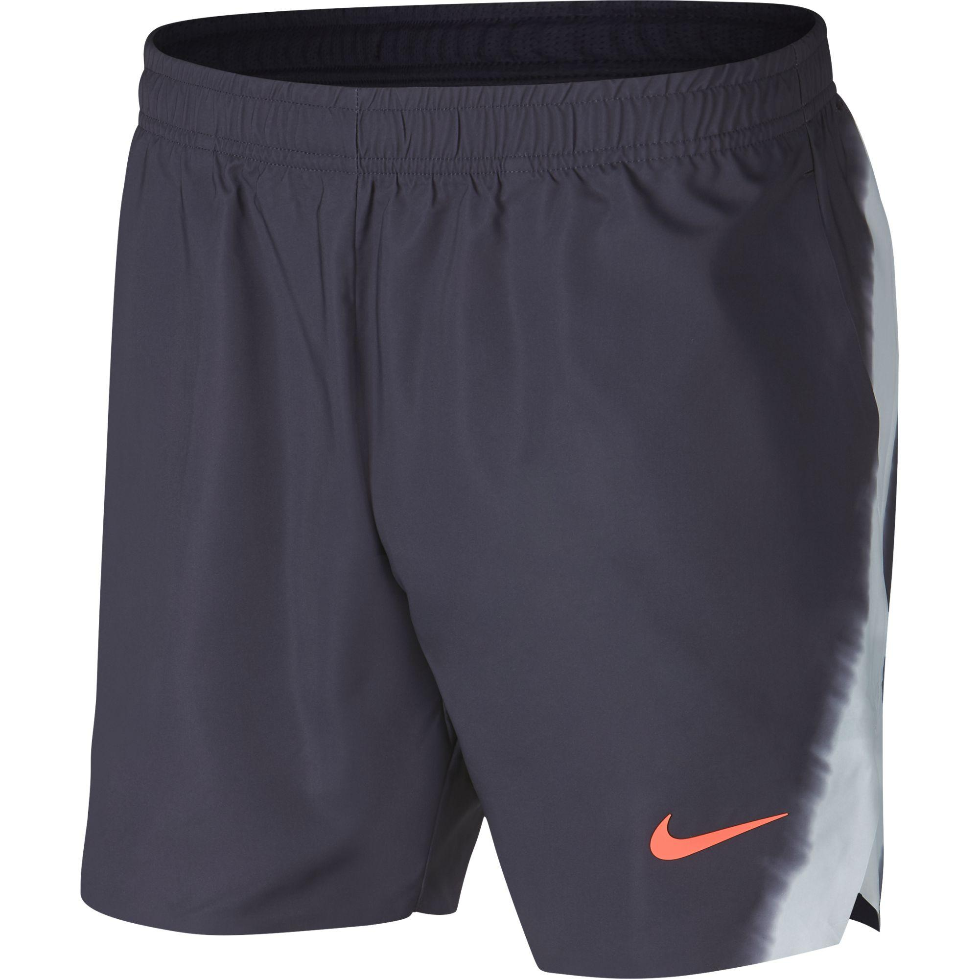 38472b151a9c Nike Mens Dri-FIT Flex Rafa Ace 7 Inch Shorts - Gridiron Pure Platinum -  Tennisnuts.com