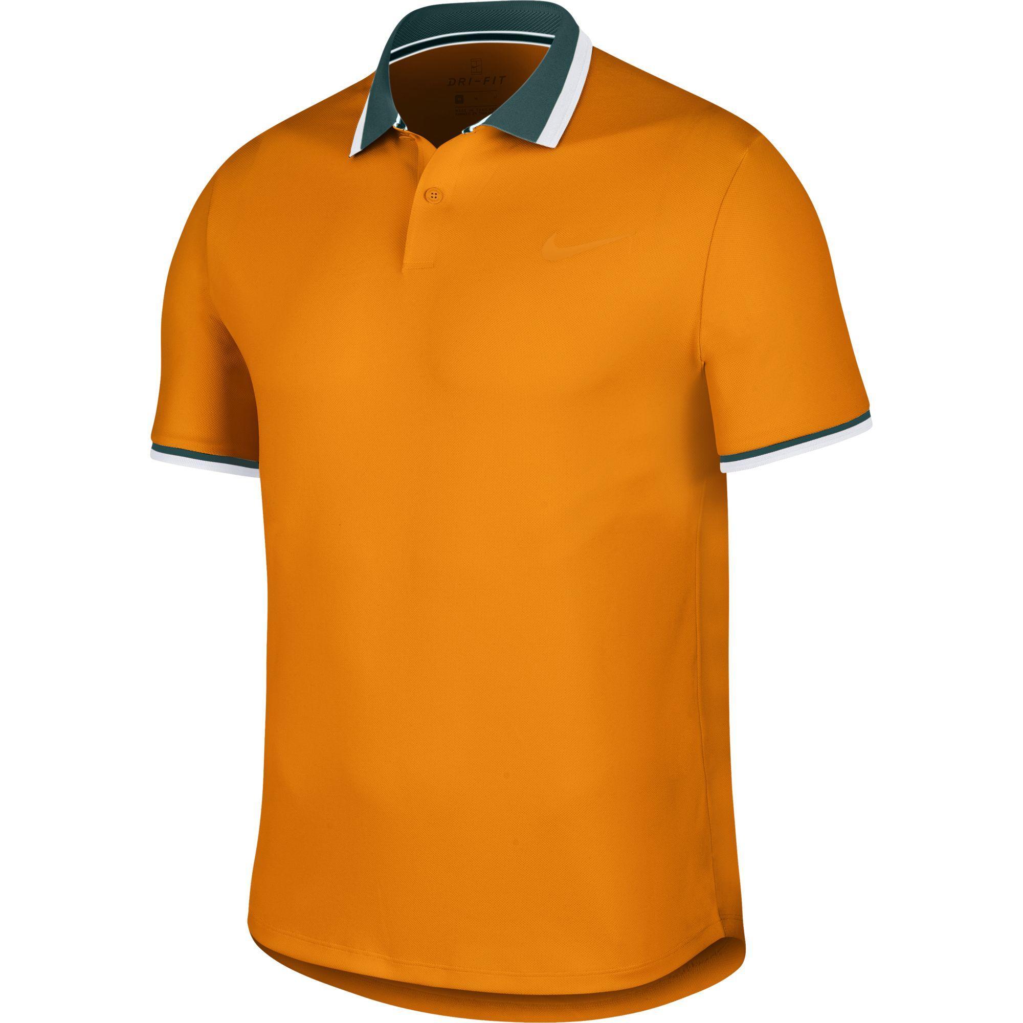 huge discount 3b3cc 7c9cd Nike Mens Advantage Polo - Orange Peel - Tennisnuts.com