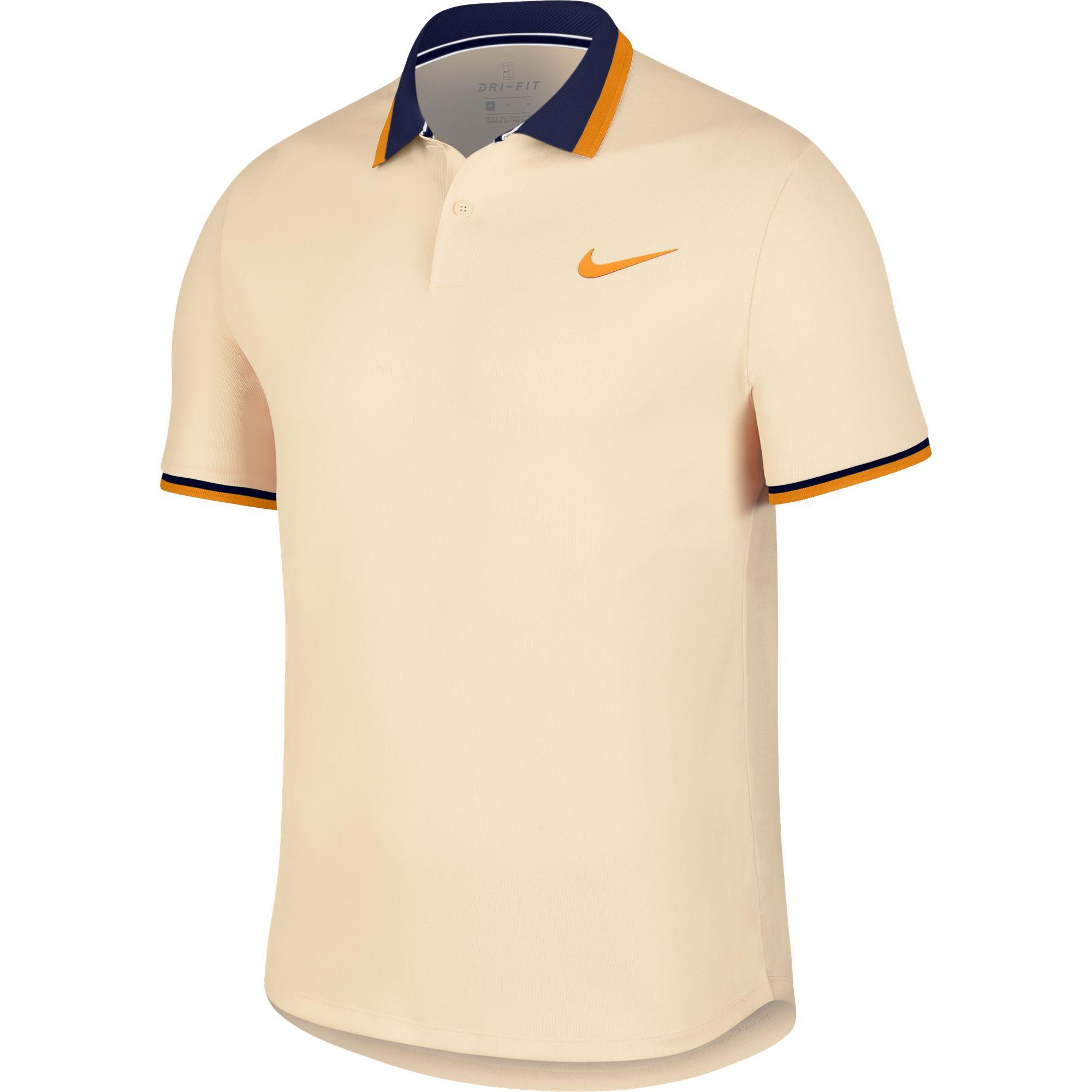 4c6806923 Nike Mens Advantage Tennis Polo - Guava Ice/Blue Void/Orange Peel -  Tennisnuts.com