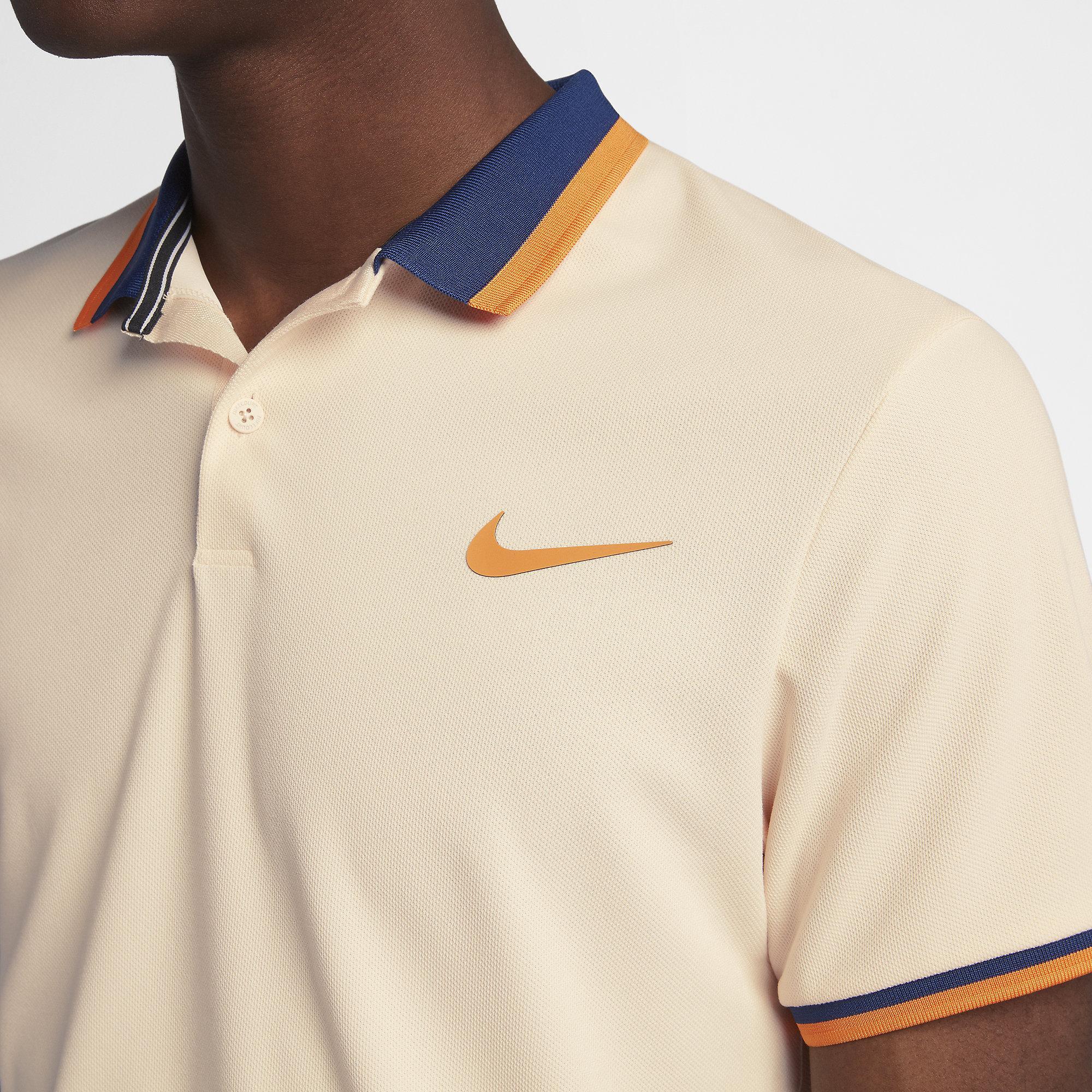 78a771dee Nike Mens Advantage Tennis Polo - Guava Ice/Blue Void/Orange Peel ...
