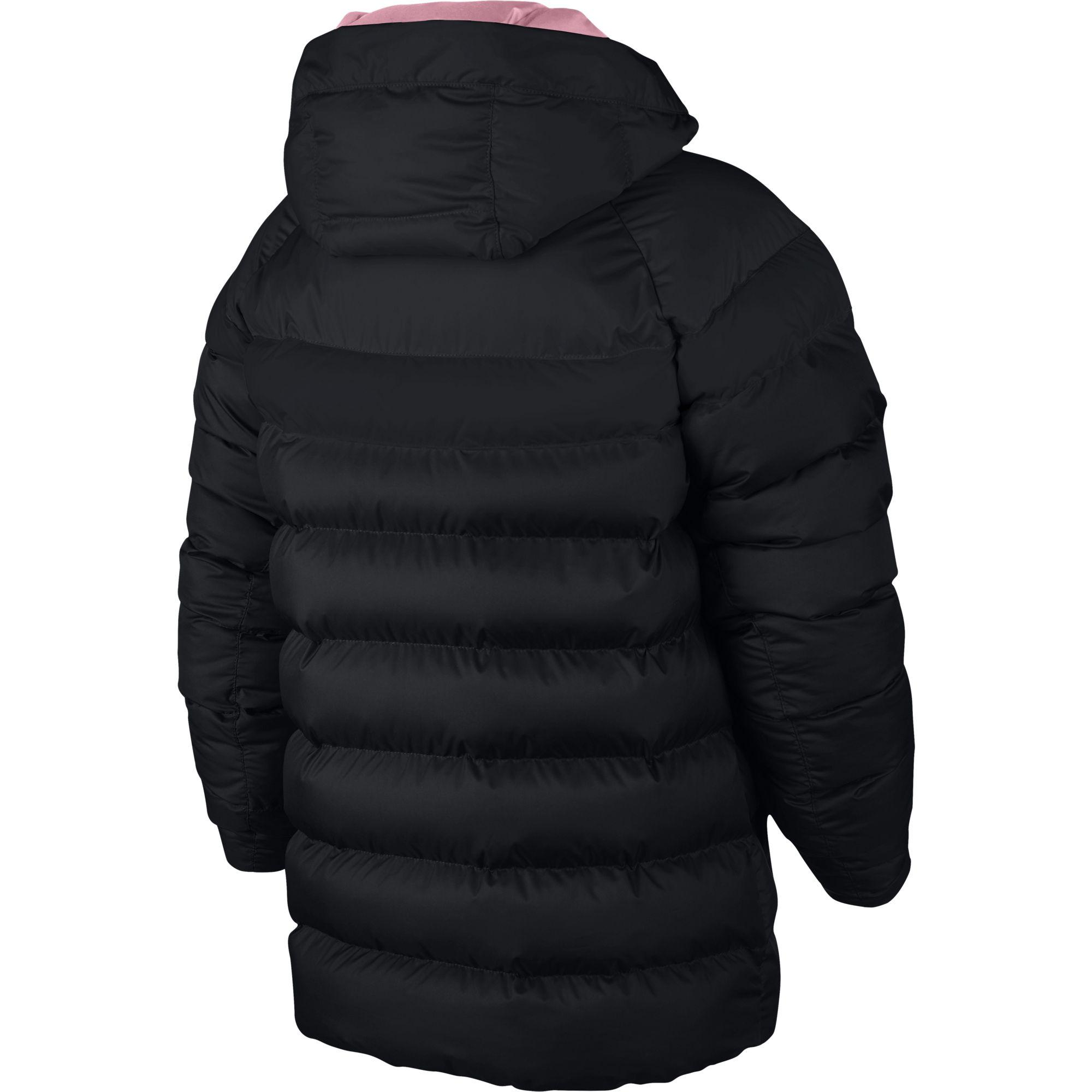 4934c3bd1 Nike Kids Sportswear Synthetic Fill Jacket - Black/Pink - Tennisnuts.com
