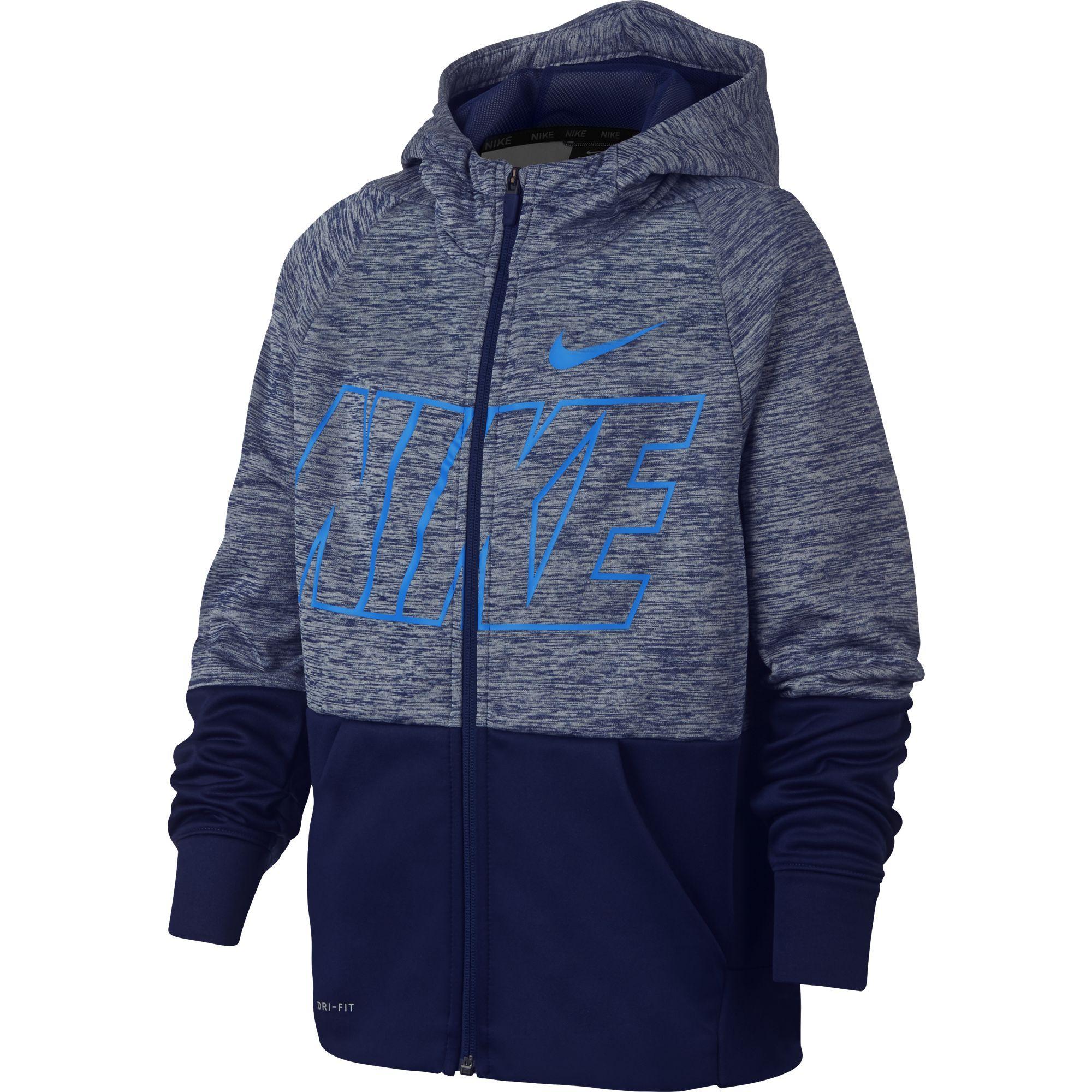 01d19895c Nike Boys Dri-FIT Therma Full-Zip Training Hoodie - Blue Void/Blue Hero -  Tennisnuts.com