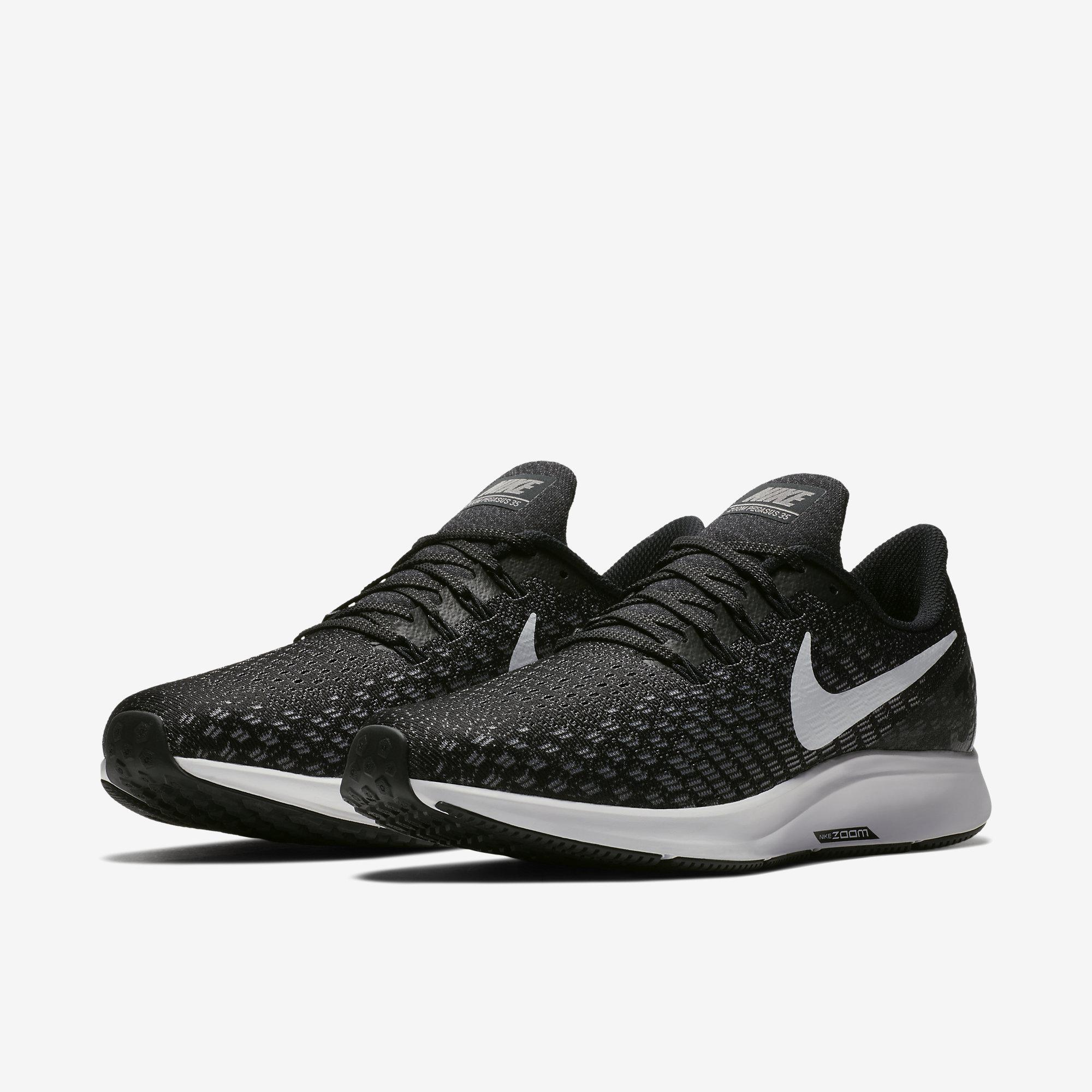 timeless design f7553 00d70 Nike Mens Air Zoom Pegasus 35 Running Shoes - Black/Gunsmoke/Oil Grey