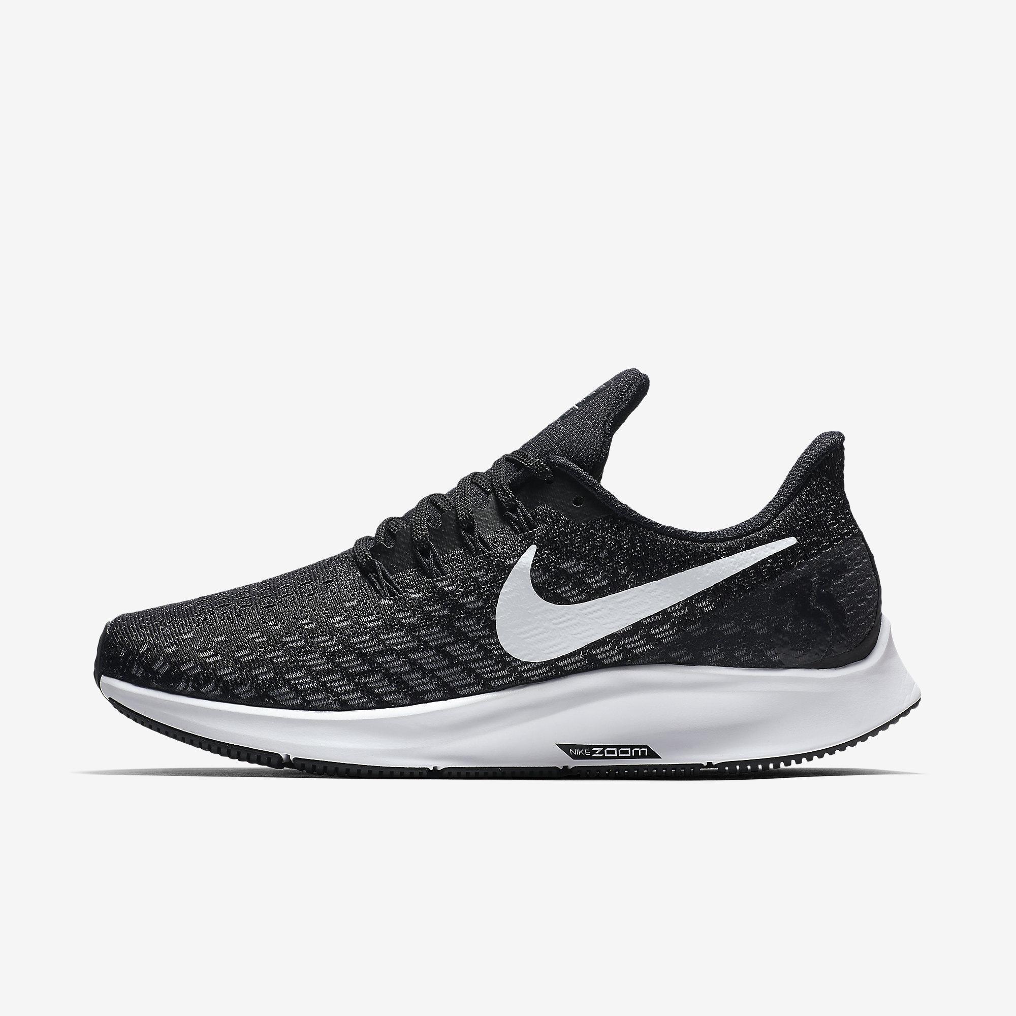 099b9d2c45e Nike Womens Air Zoom Pegasus 35 Running Shoes - Black White Gunsmoke -  Tennisnuts.com