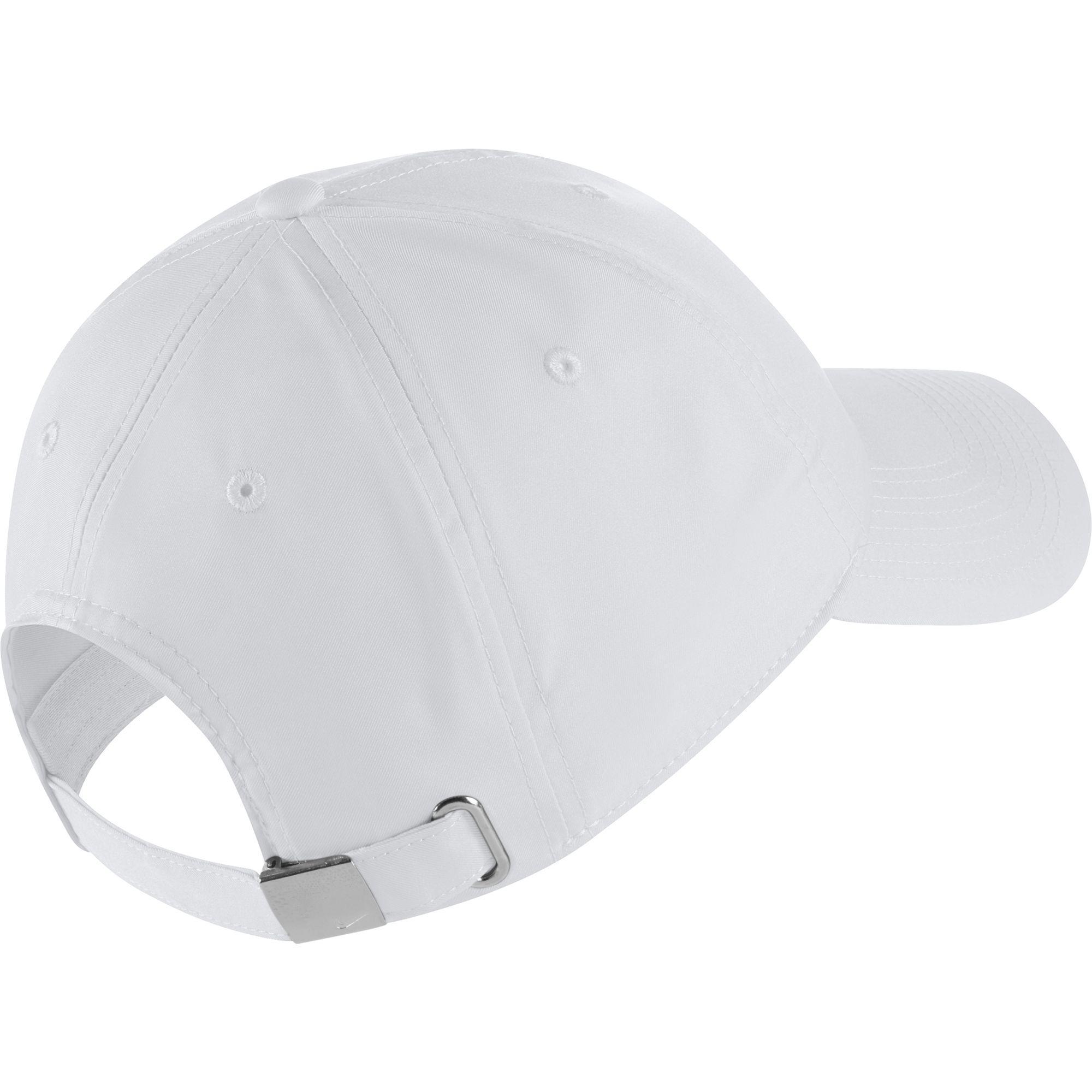 e33f88ca Nike Metal Swoosh H86 Adjustable Cap - White - Tennisnuts.com