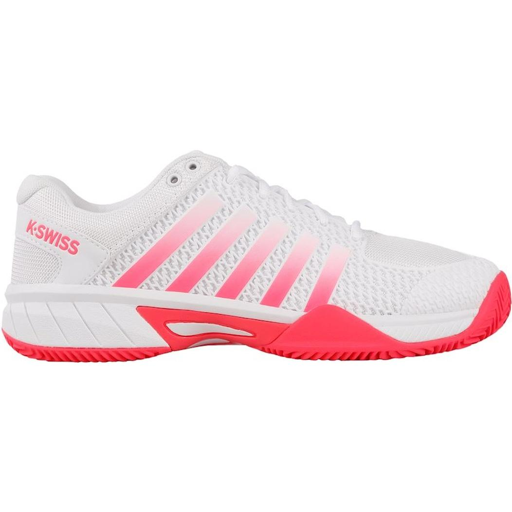 76c9fb29 K-Swiss Womens Express Light HB Tennis Shoes - White/Pink - Tennisnuts.com