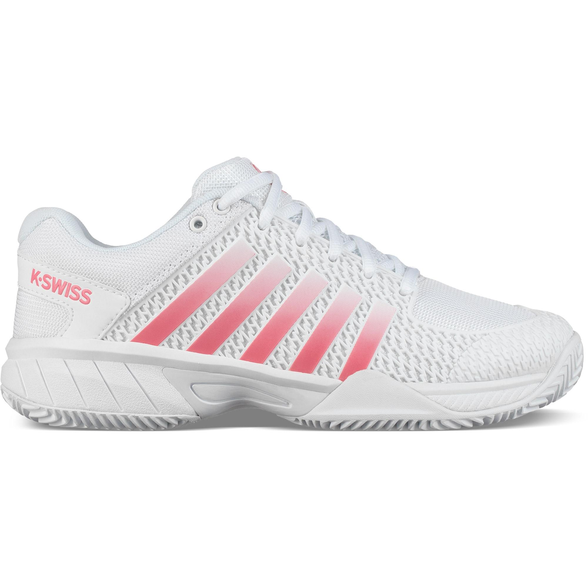 30b7c763 K-Swiss Womens Express Light HB Tennis Shoes - White/PinkLemonade -  Tennisnuts.com
