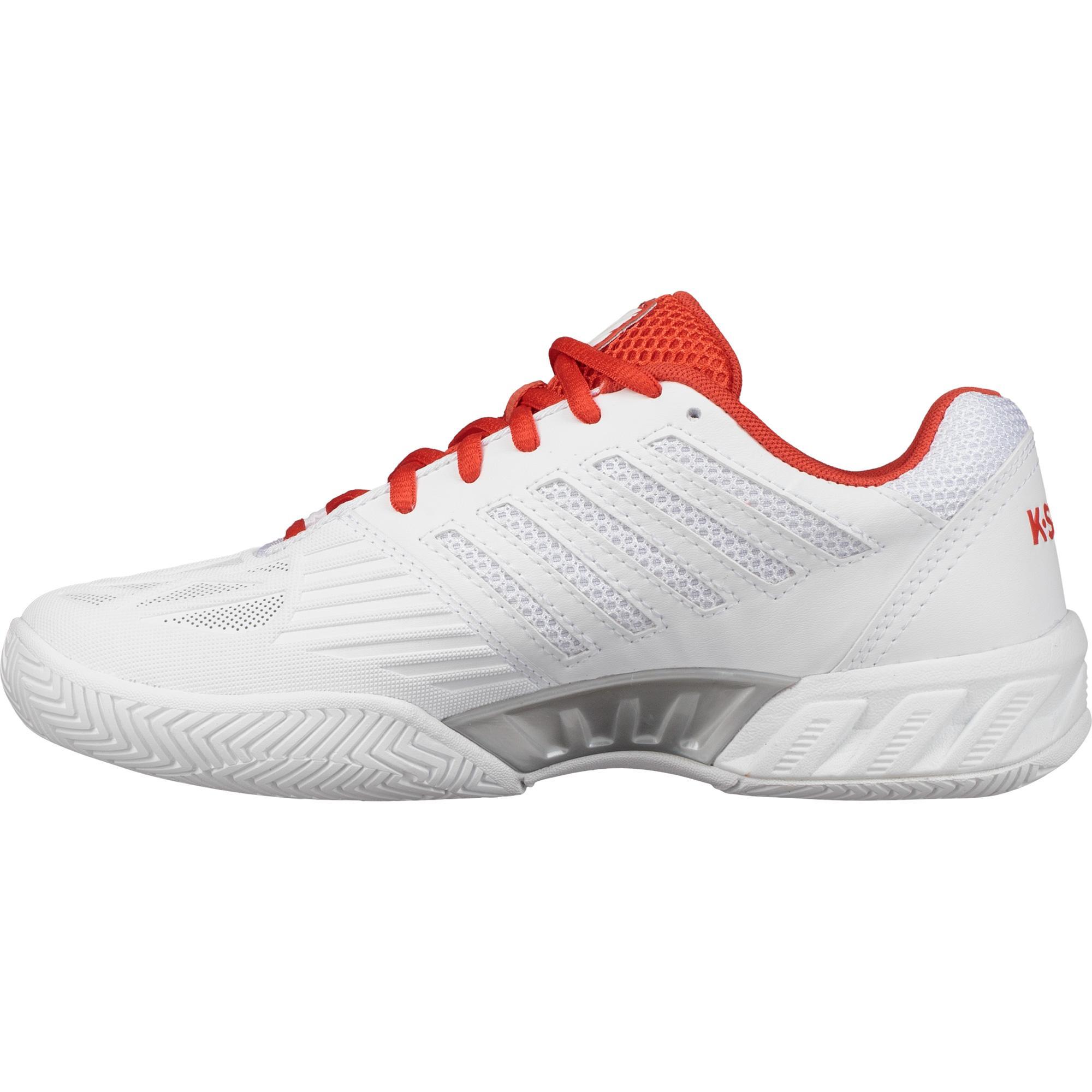 best website 6f7b5 19a98 K-Swiss Womens BigShot Light 3.0 Tennis Shoes - White Fiesta Silver