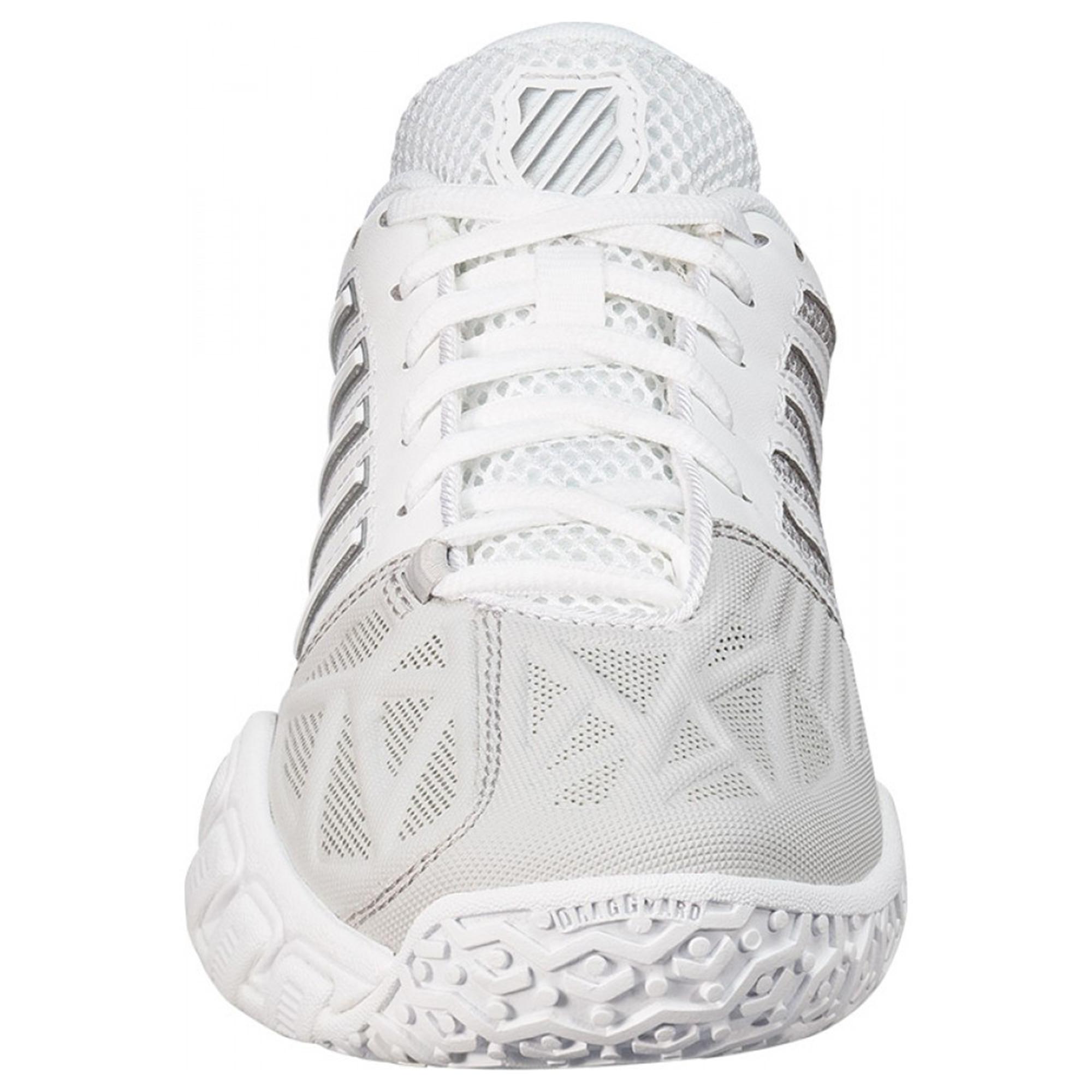 buy popular f9f82 b4cc6 K-Swiss Womens BigShot Light 3.0 Omni Court Tennis Shoes - White Silver