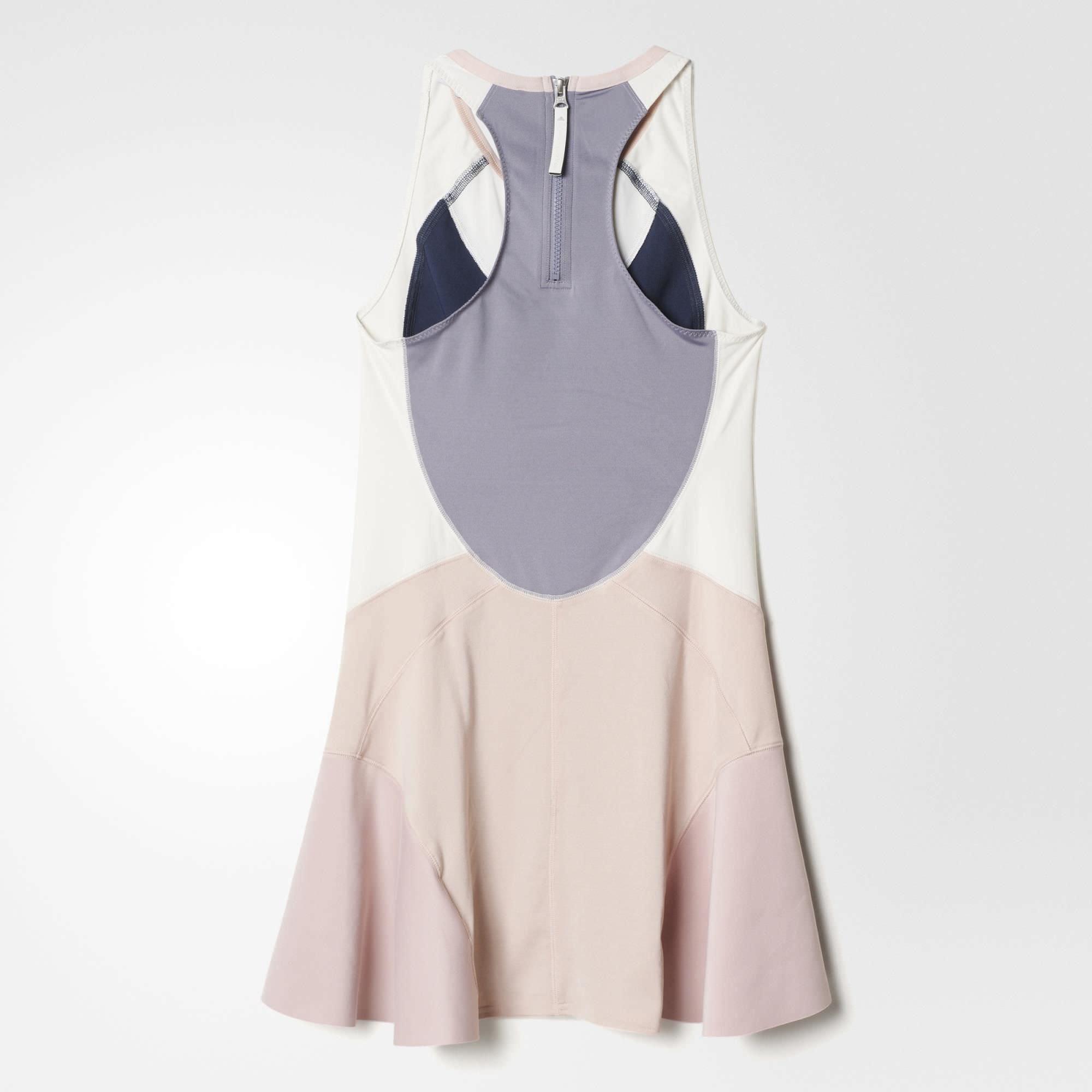 95f0427963357 Adidas Womens Stella McCartney Barricade Dress NY - Midnight Grey White