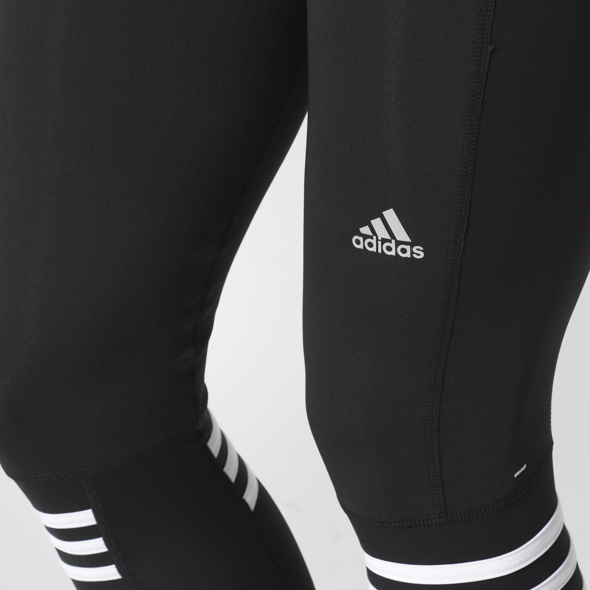 27564e3af6250 Adidas Womens Response Long Tights - Black/White - Tennisnuts.com