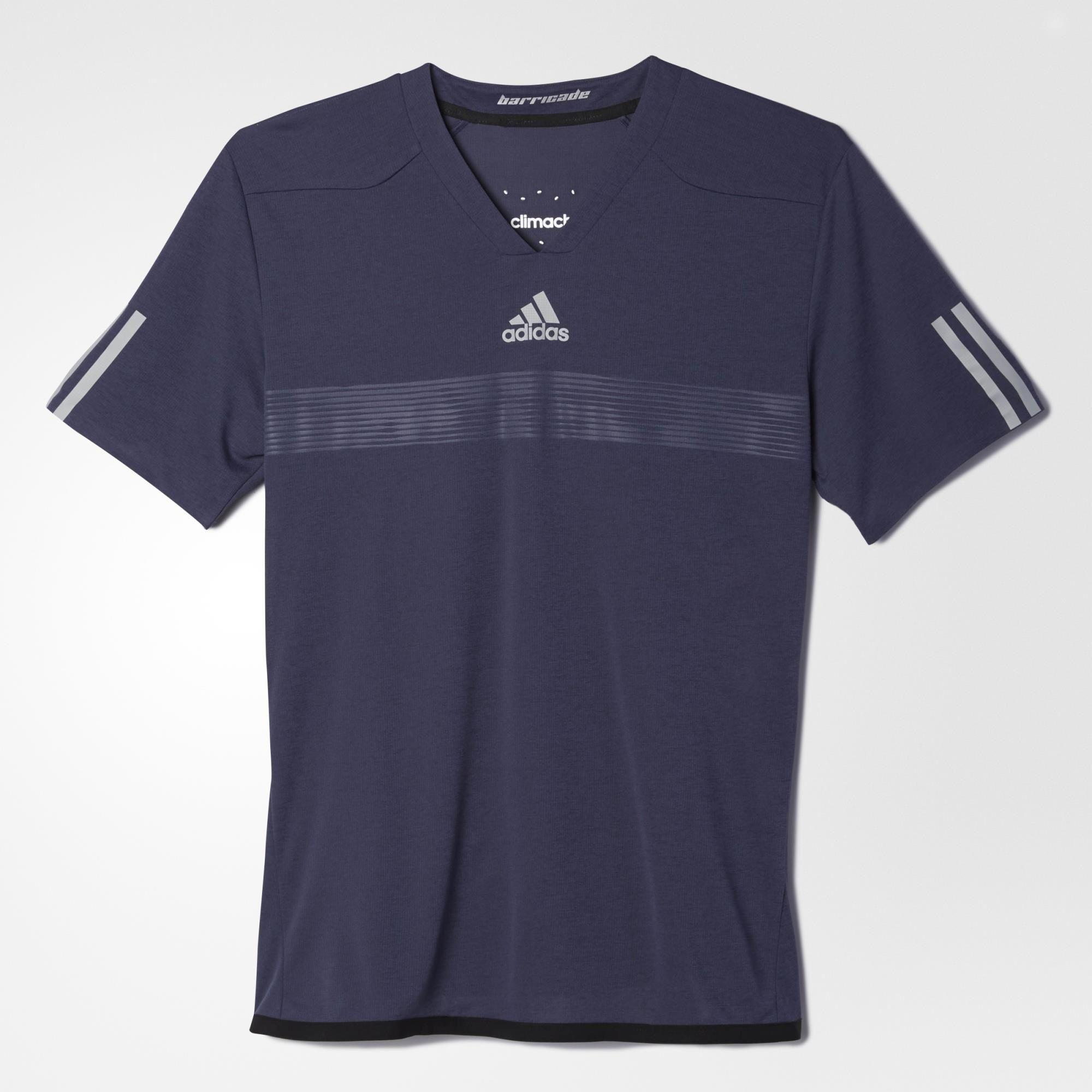 Adidas Mens Barricade Uncontrol ClimaChill Tee - Chill Midnight Grey