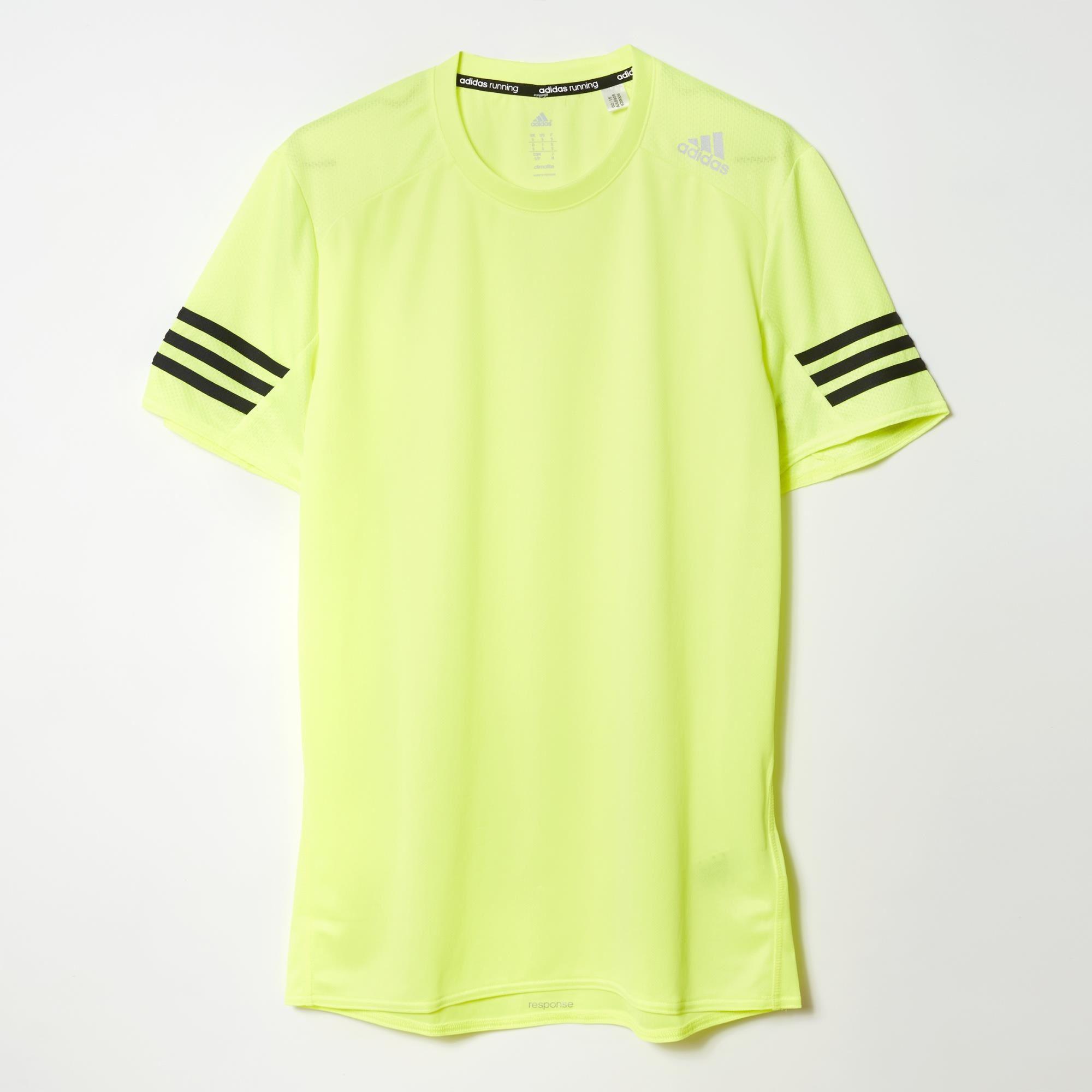 bdf39cecbca6 Adidas Mens Response Short Sleeve Tee - Solar Yellow - Tennisnuts.com