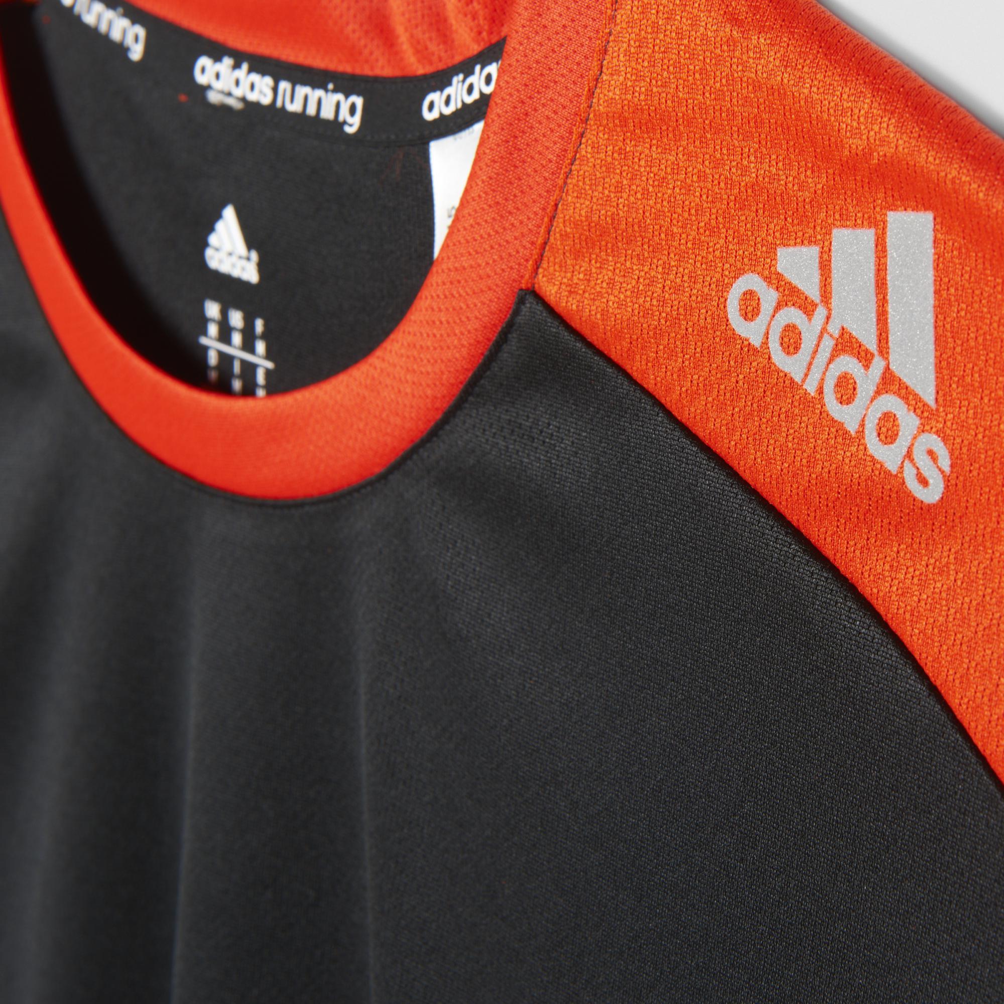 09c3ac1a050cd Adidas Mens Response Short Sleeve Tee - Black/Bold Orange ...