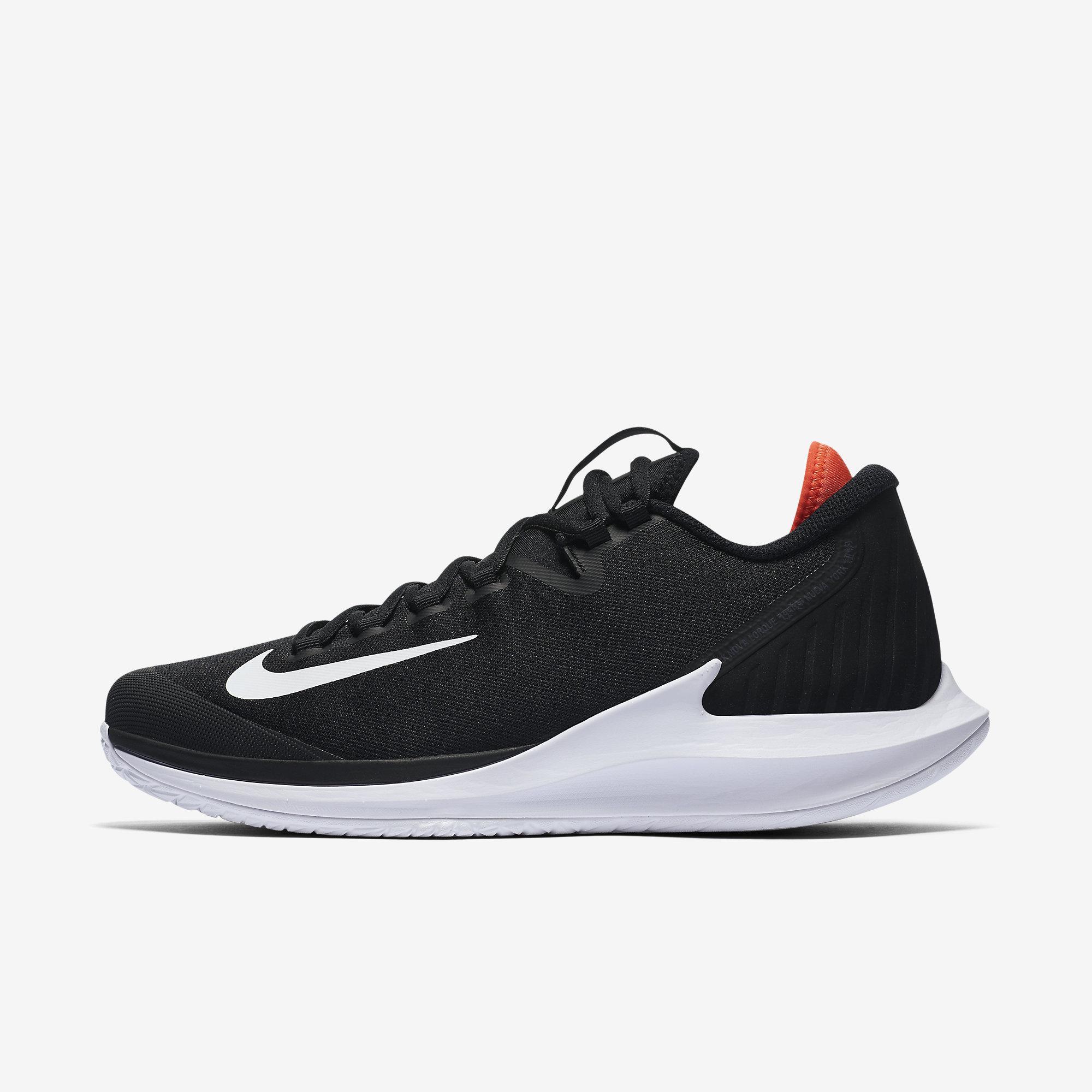 2bf25b4b5938 Nike Mens Air Zoom Zero Tennis Shoes - Black Red White - Tennisnuts.com