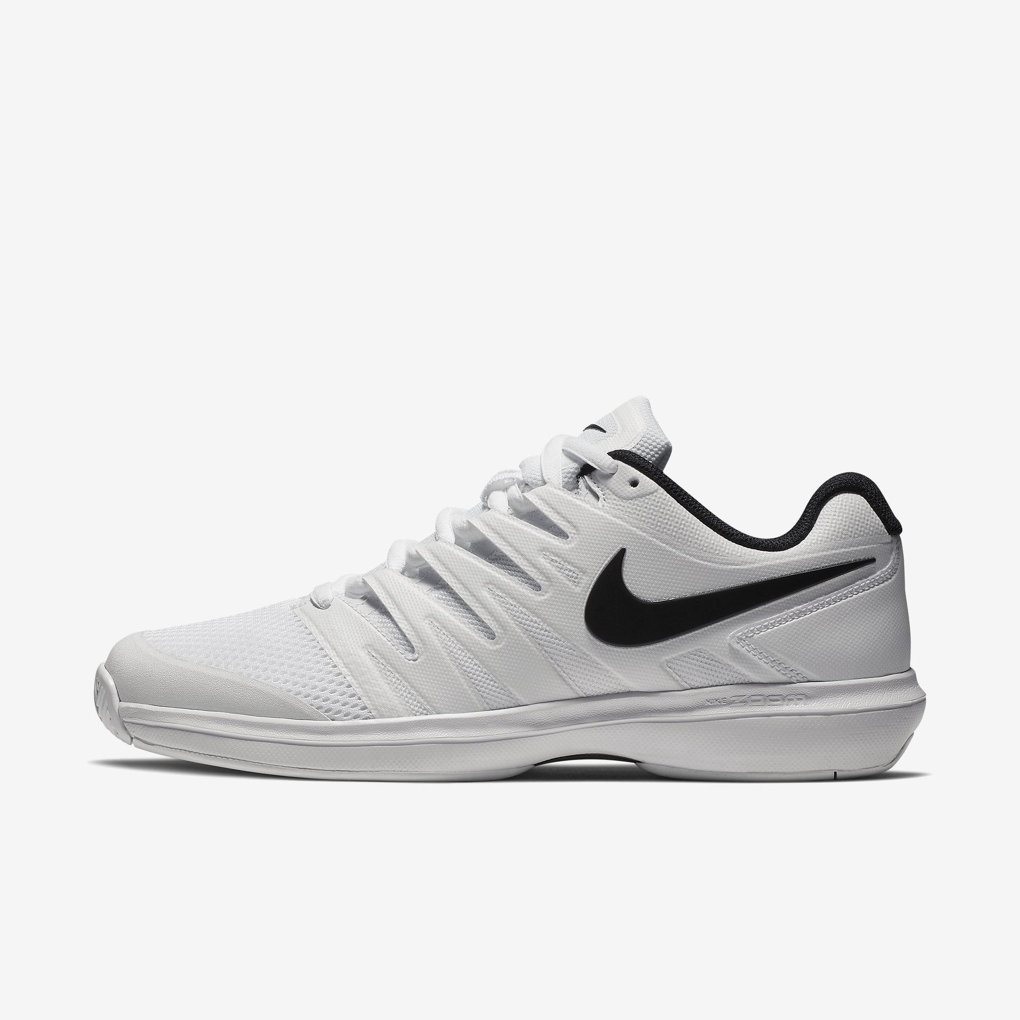 0ae971b1df Nike Boys Air Zoom Prestige Tennis Shoes - White/Black - Tennisnuts.com