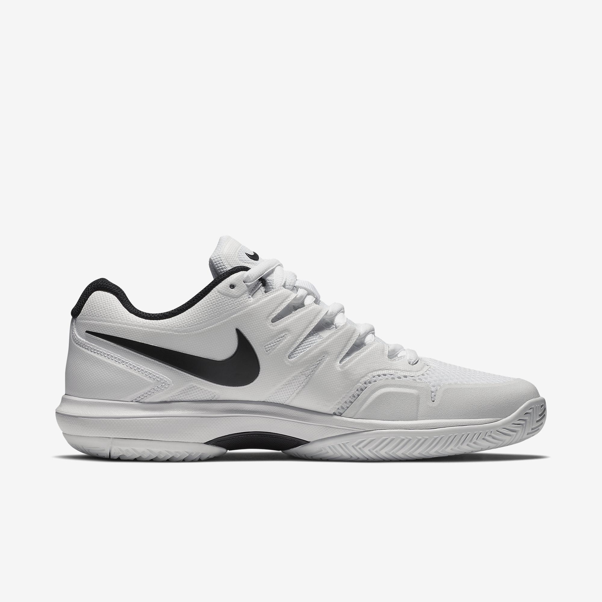 Nike Mens Air Zoom Prestige Tennis Shoes - White Black - Tennisnuts.com ef37408fe