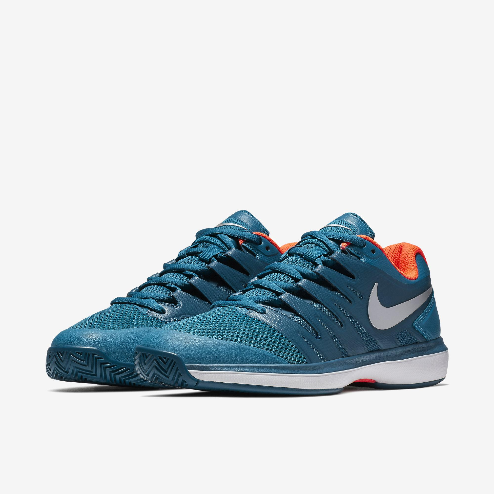 9dc3bff2411e1 Nike Mens Air Zoom Prestige Tennis Shoes - Green Abyss Blue Force ...