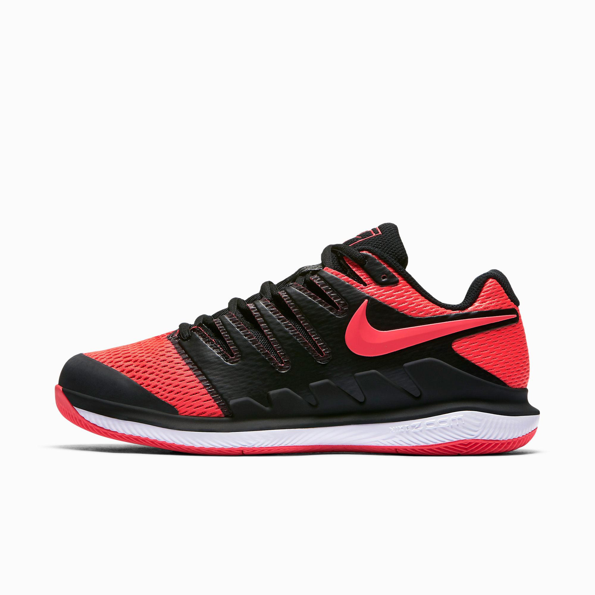 size 40 94f99 b37ab Nike Womens Air Zoom Vapor X Tennis Shoes - Solar RedBlack - Tennisnuts.com