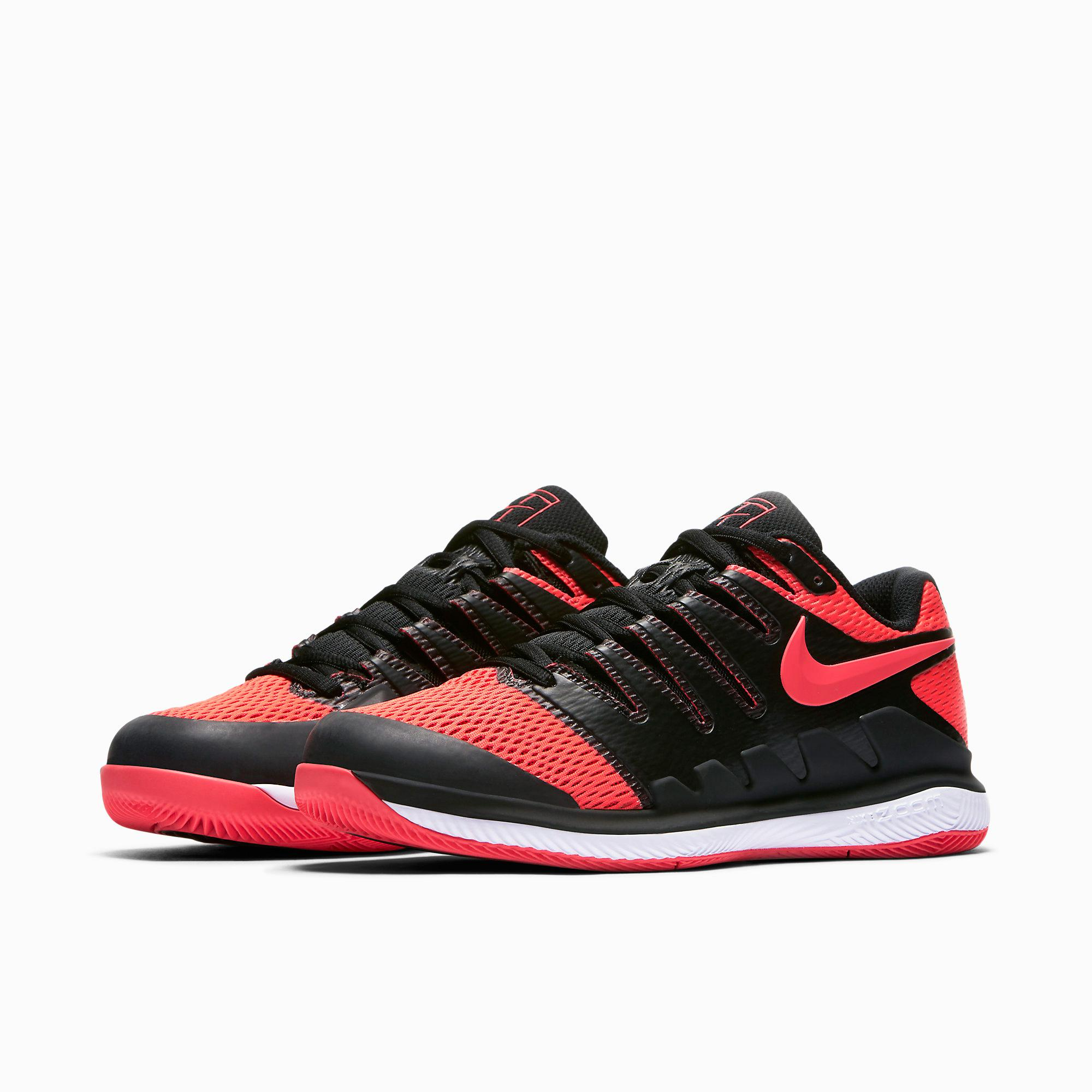 d9172cc9b7dba5 Nike Womens Air Zoom Vapor X Tennis Shoes - Solar Red Black ...