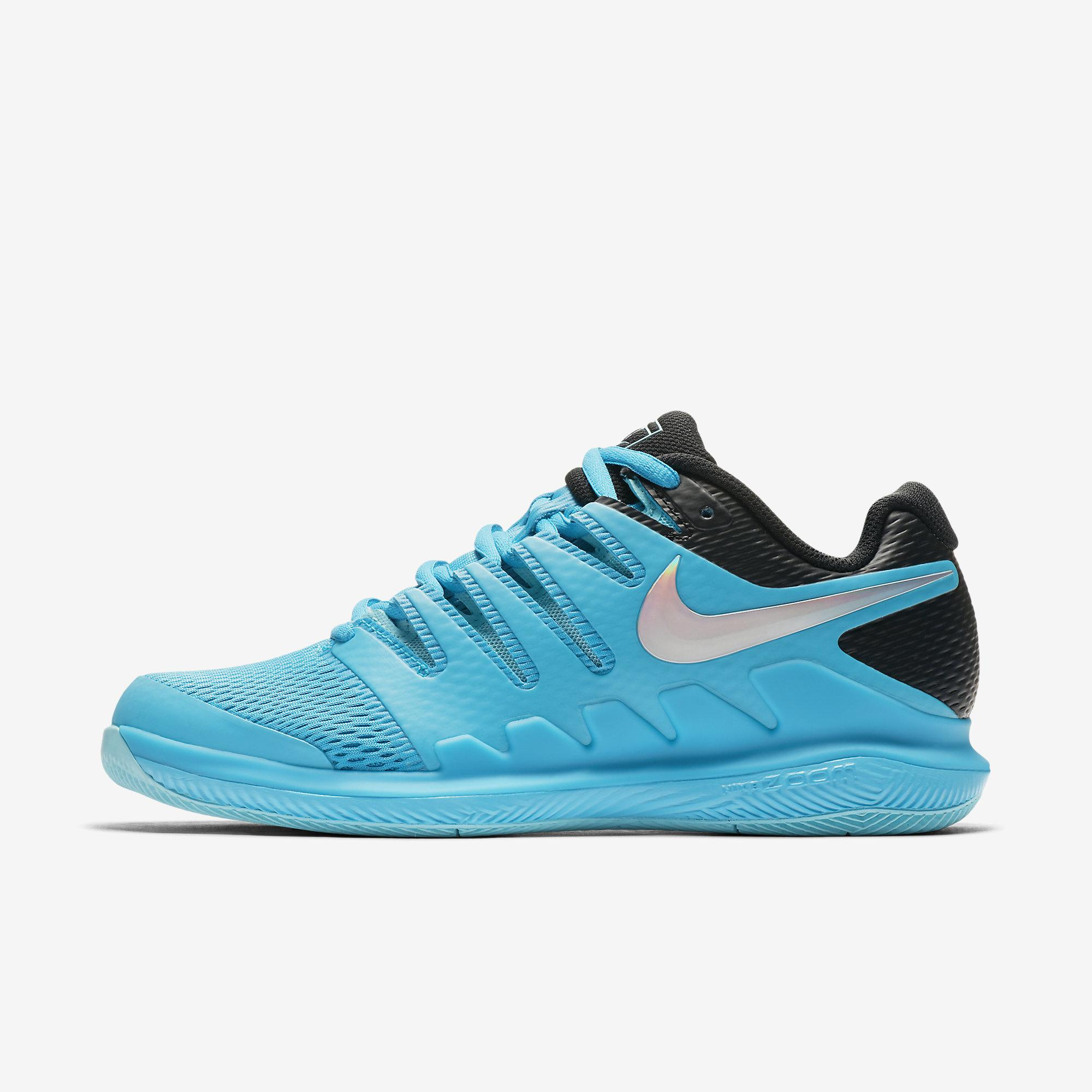 48e810696dbb2 Nike Womens Air Zoom Vapor X Tennis Shoes - Light Blue Fury Black -  Tennisnuts.com
