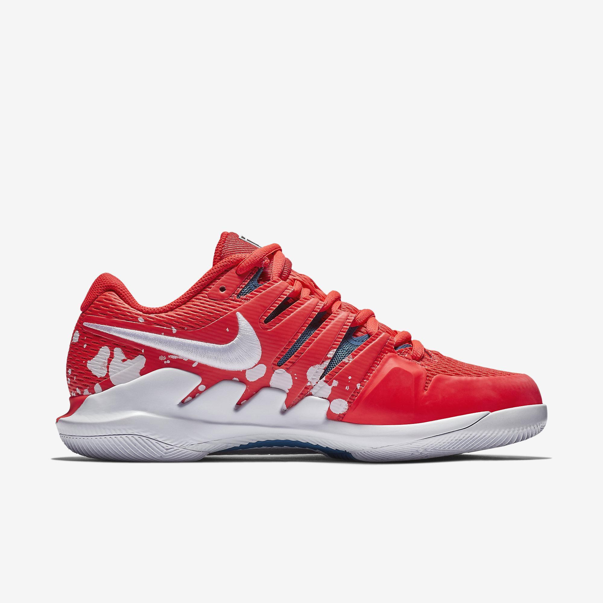 bdedf8366129 Nike Womens Air Zoom Vapor X Premium Tennis Shoes - Bright Crimson ...