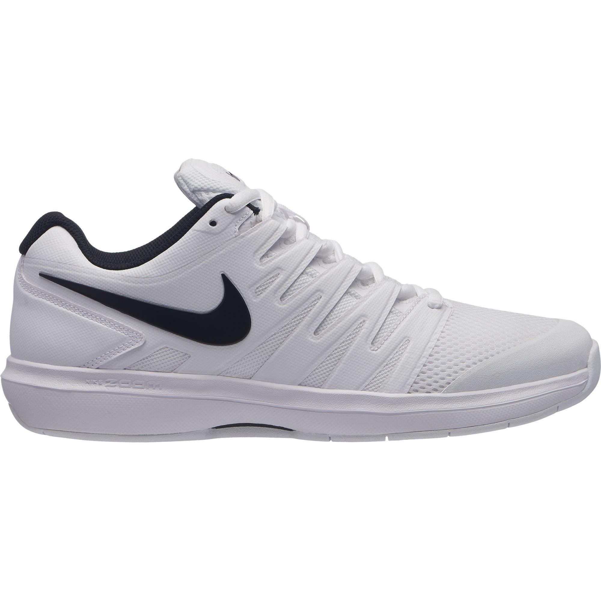 21c9e81eee Nike Kids Air Zoom Prestige Tennis Shoes - Carpet White/Black -  Tennisnuts.com