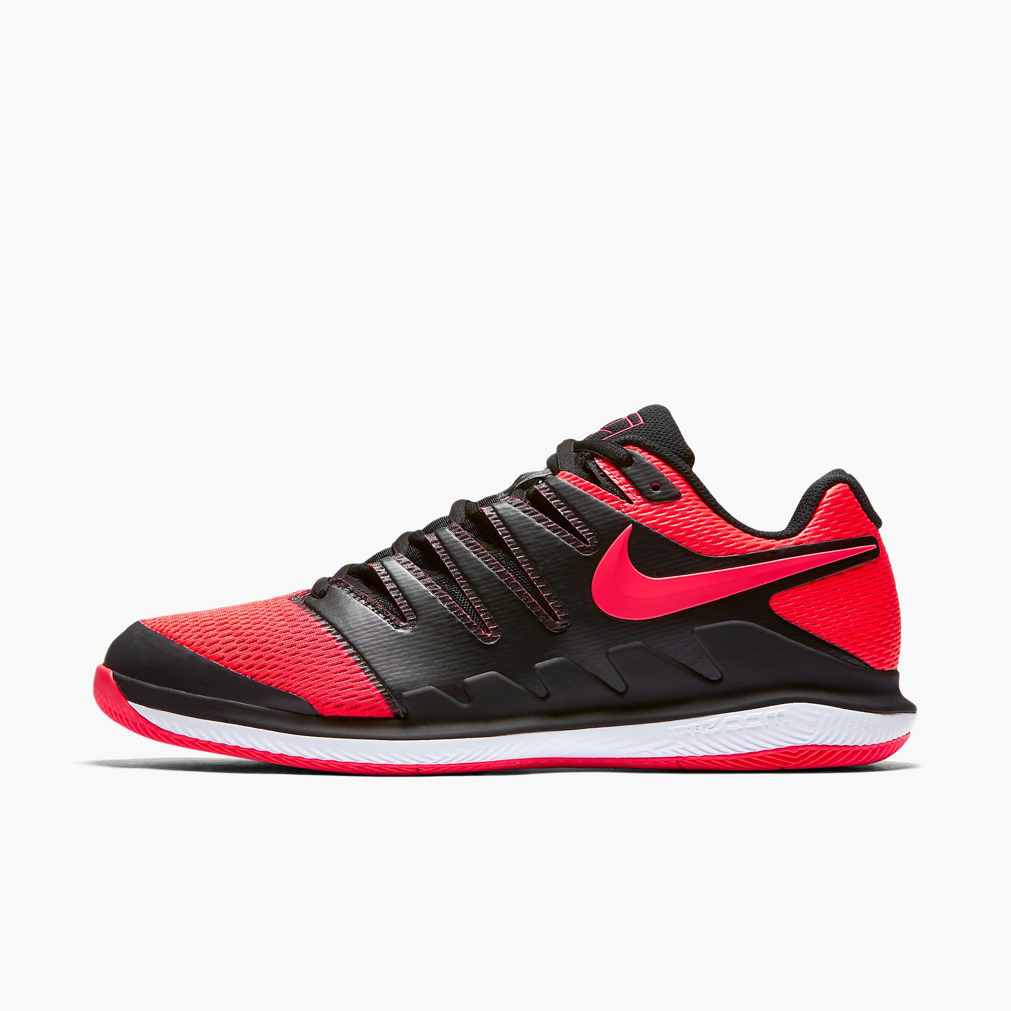 bcde1dd45360 Nike Mens Air Zoom Vapor X Tennis Shoes - Black Red - Tennisnuts.com