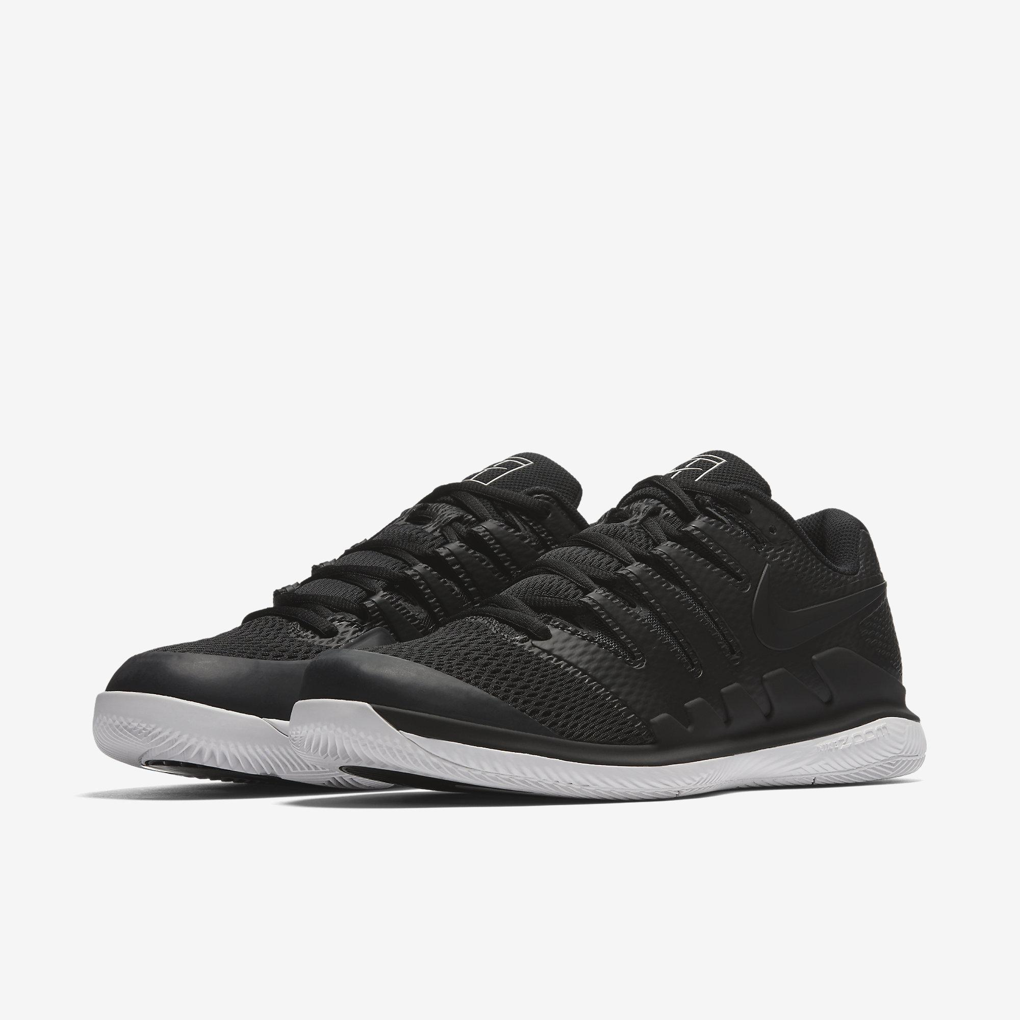 release date: ac30a 87d6b Nike Mens Air Zoom Vapor X Tennis Shoes - Black White - Tennisnuts.com