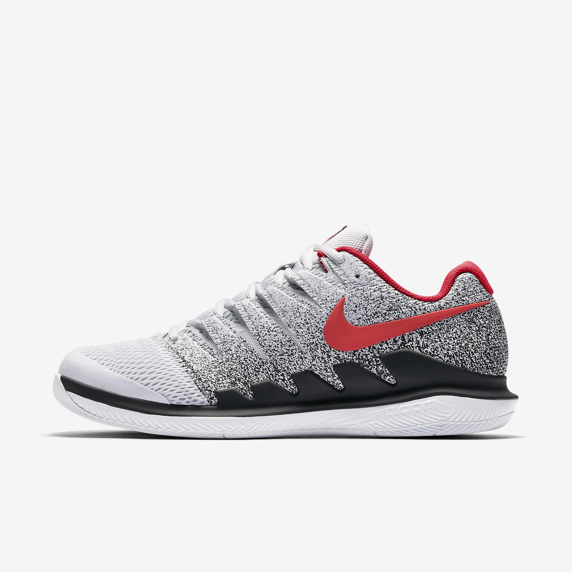 b44ad24734d4 Nike Mens Air Zoom Vapor X Tennis Shoes - Pure Platinum Red - Tennisnuts.com