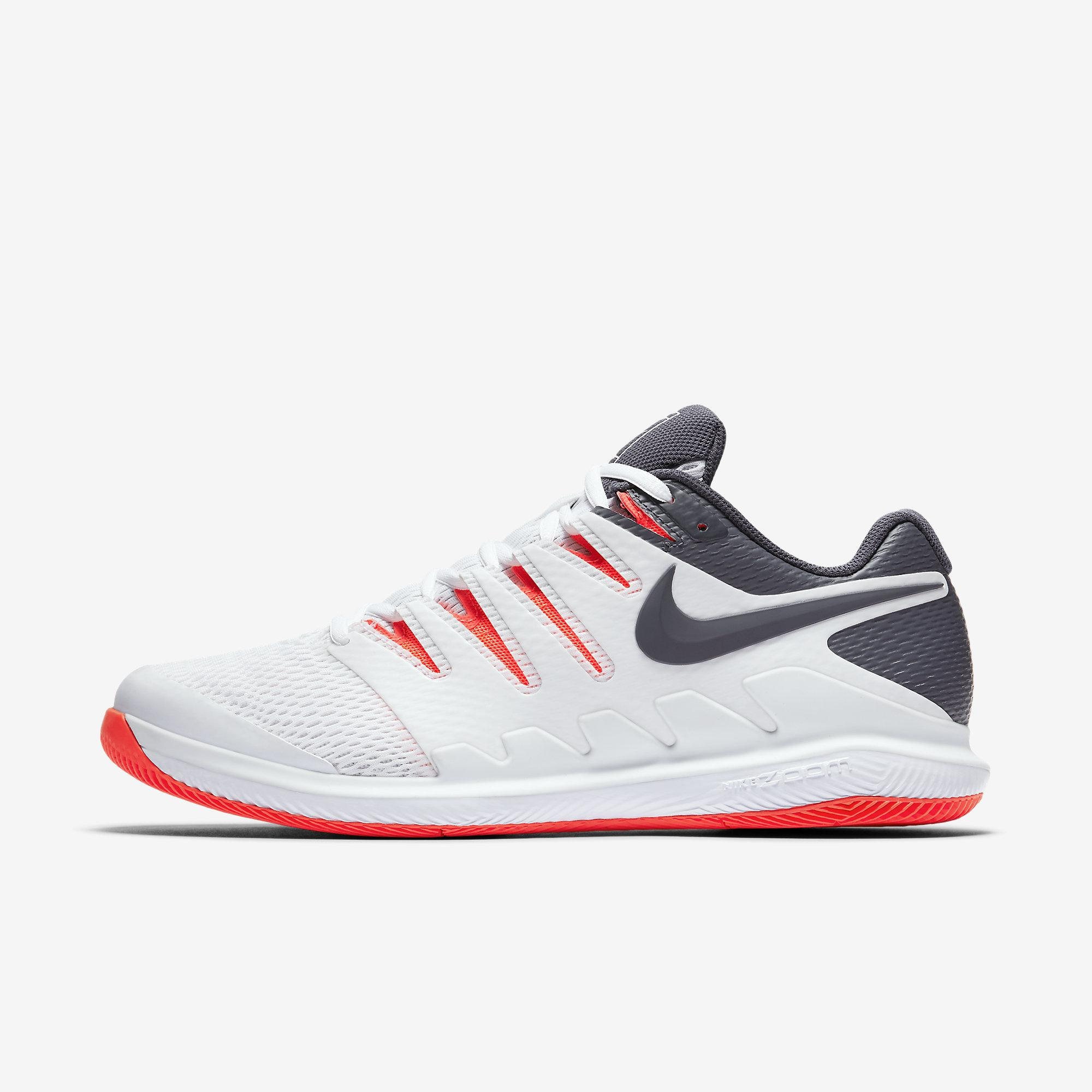 buy online 36aff b3a19 Nike Mens Air Zoom Vapor X Tennis Shoes - White Orange - Tennisnuts.com
